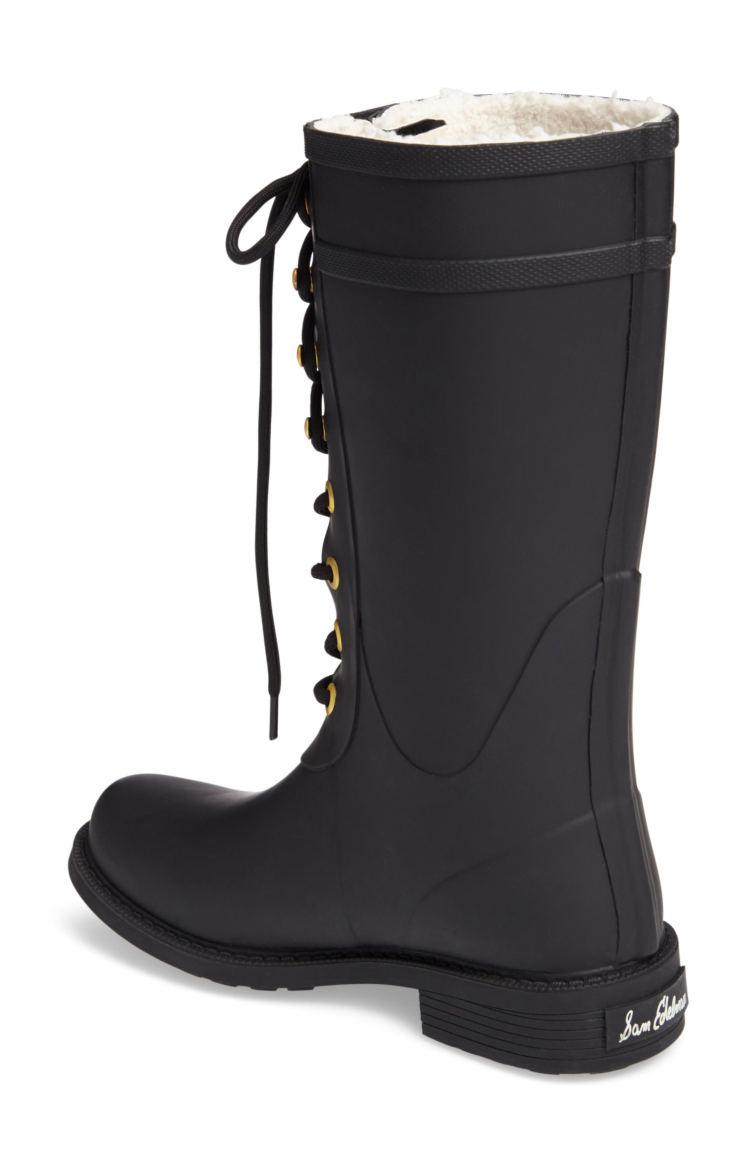 Alternate Image 2  - Sam Edelman Kay Lace-Up Rain Boot (Women)