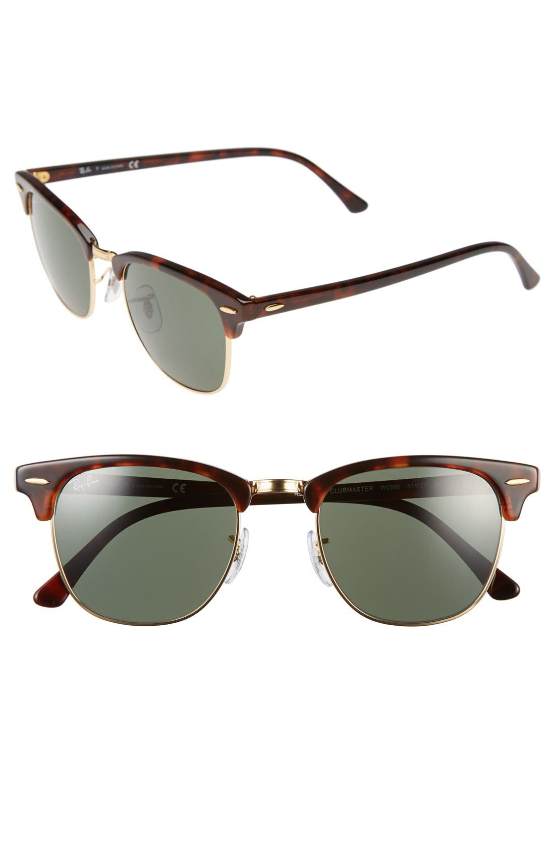 Ray-Ban Standard Clubmaster 51mm Sunglasses