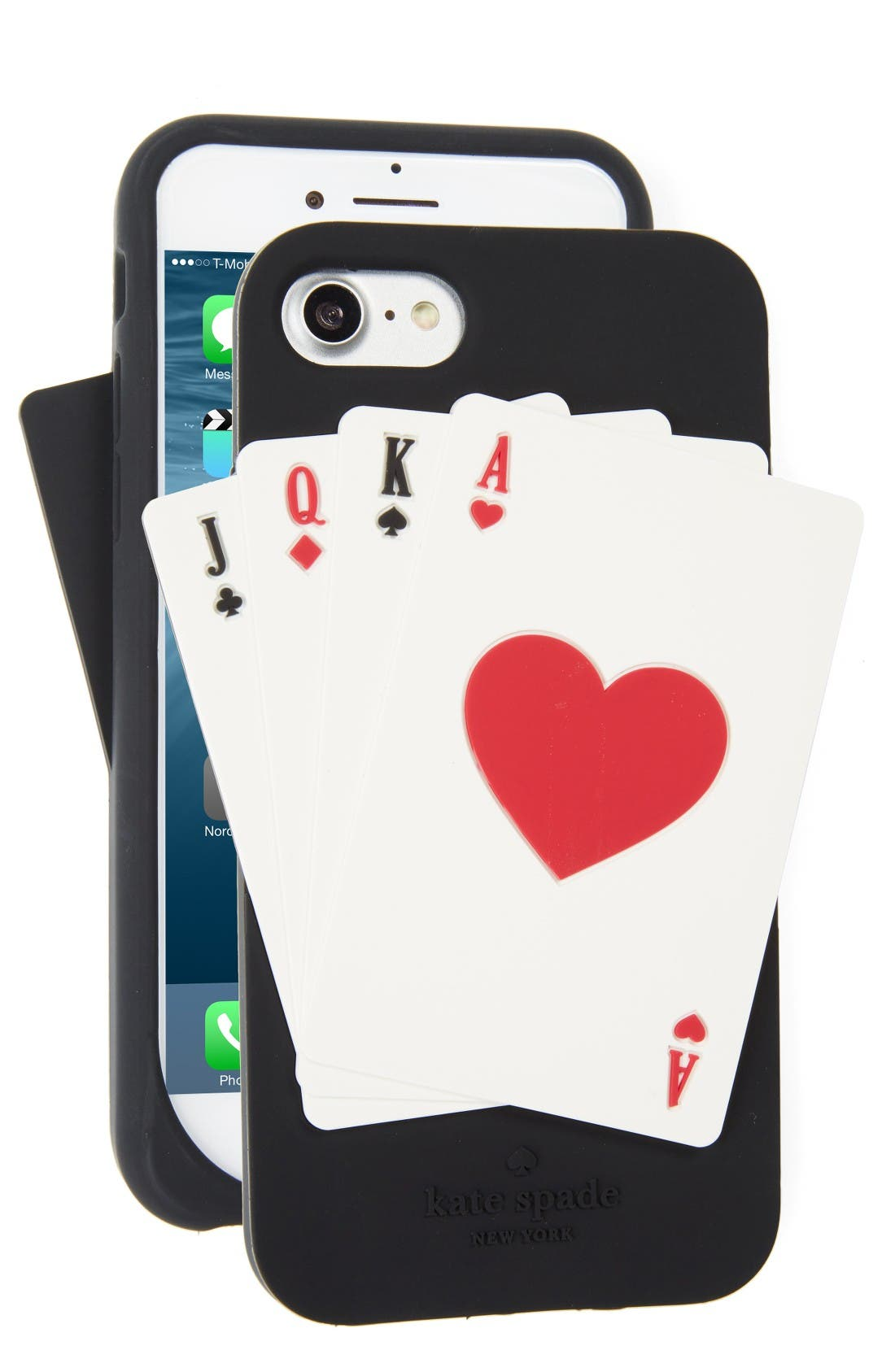 Main Image - kate spade new york deck of cards iPhone 7 case