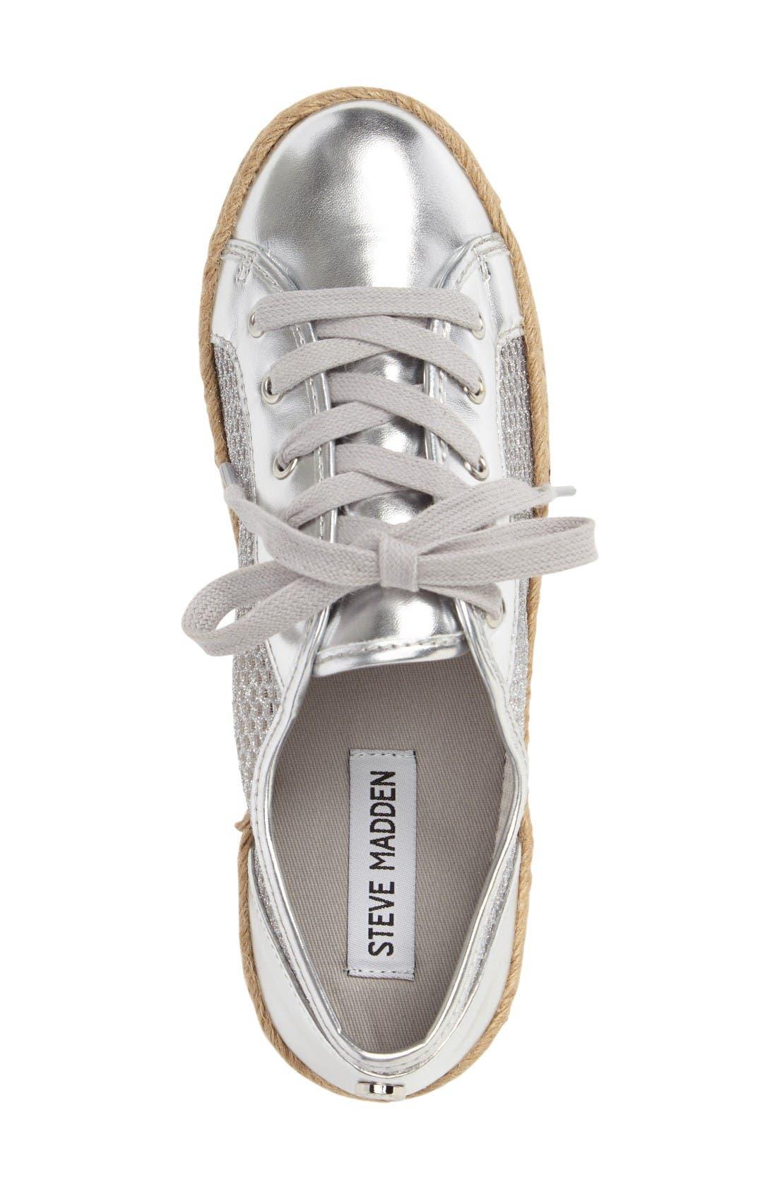 Mars Platform Sneaker,                             Alternate thumbnail 3, color,                             Silver