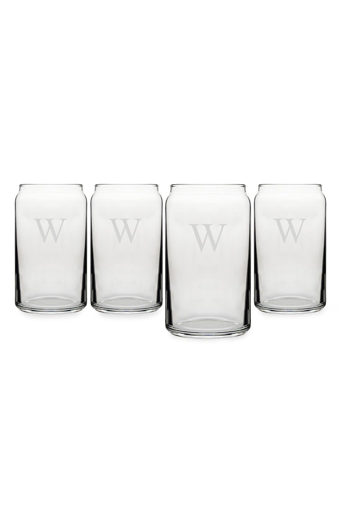 Cathy's Concepts Personalized Craft Home Brew Can Glasses (Set of 4)