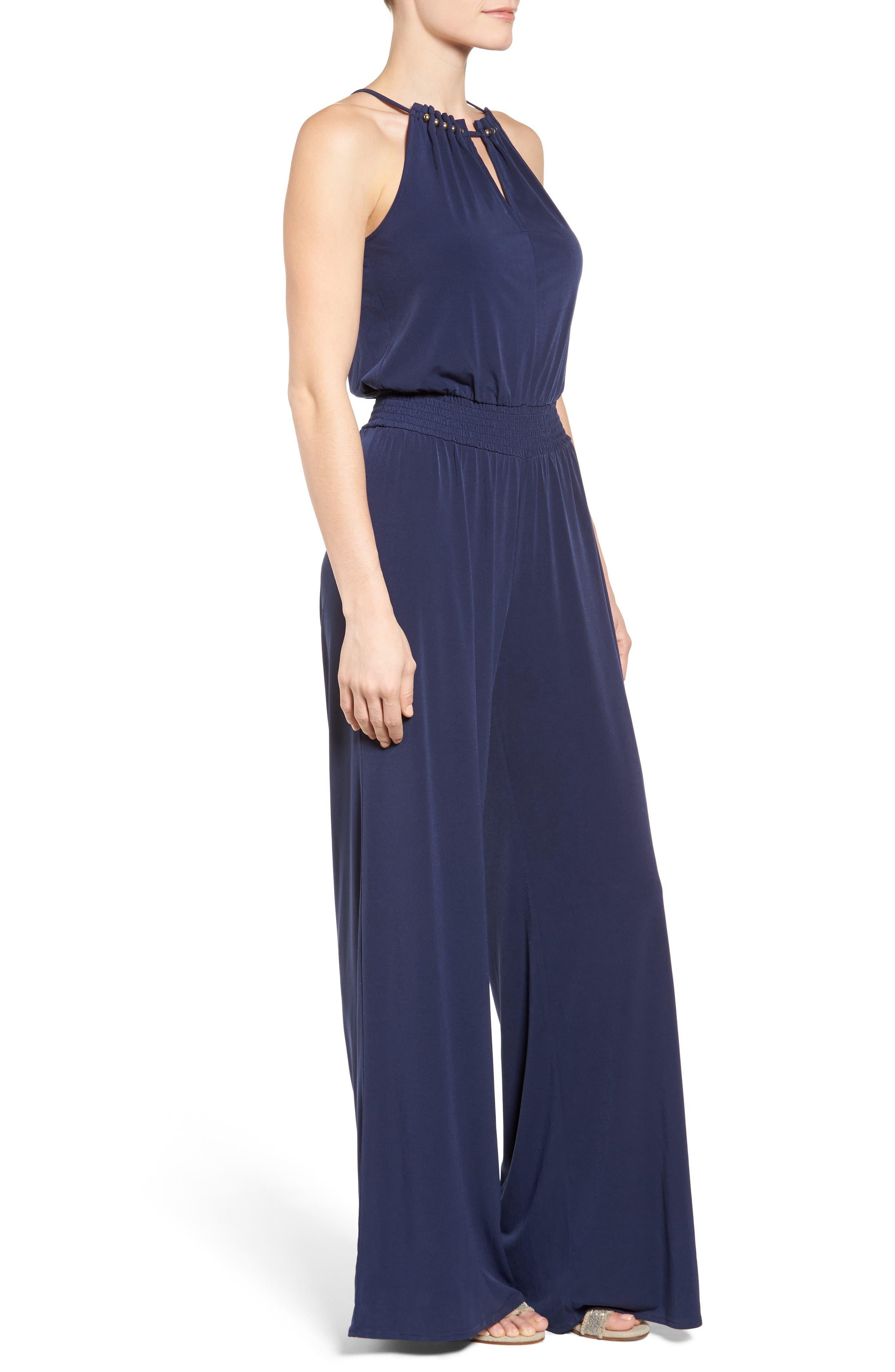 Alternate Image 3  - MICHAEL Michael Kors Embellished Smocked Waist Jumpsuit