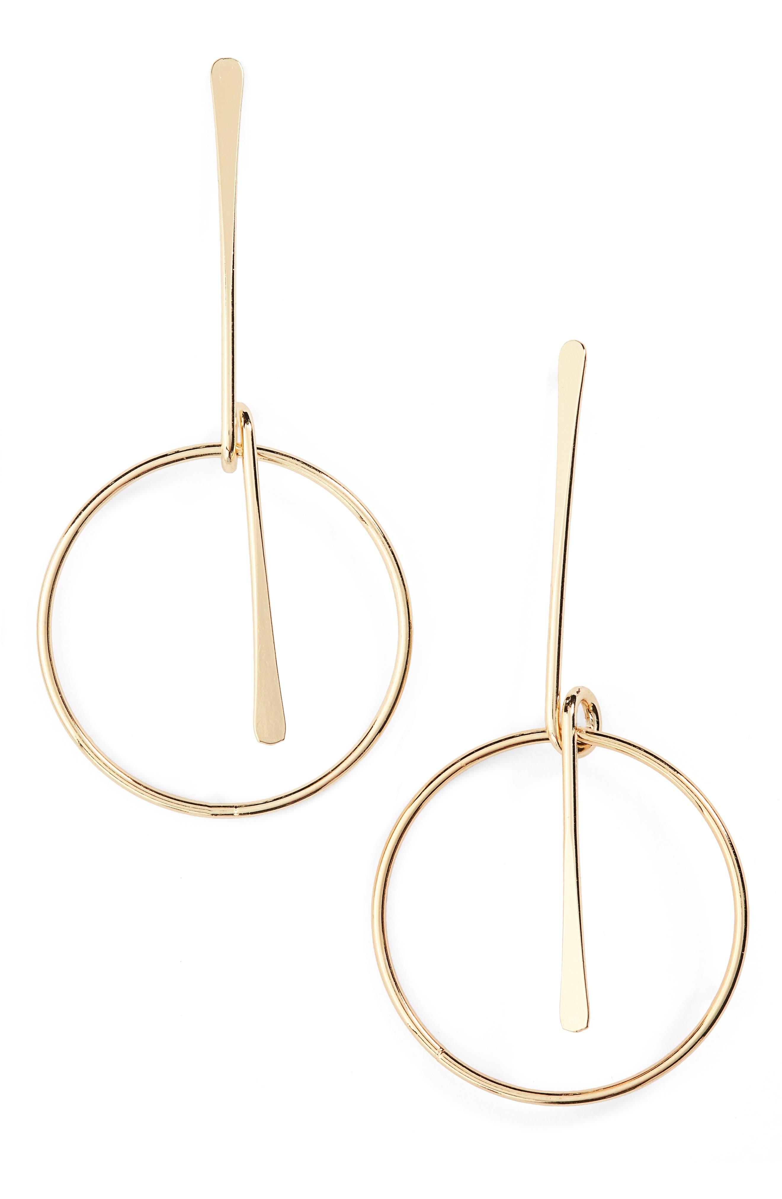 Alternate Image 1 Selected - Loren Olivia Circle Pendant Drop Earrings
