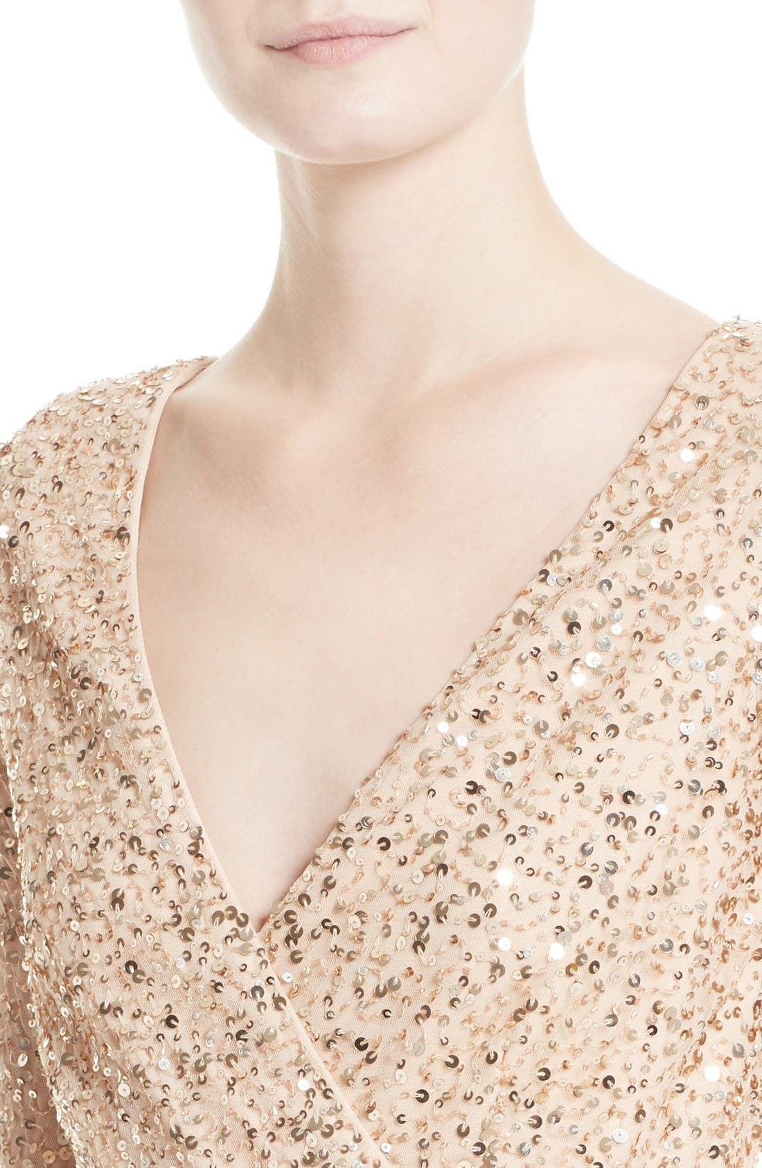 Sequin Body-Con Dress,                             Alternate thumbnail 6, color,                             Gold