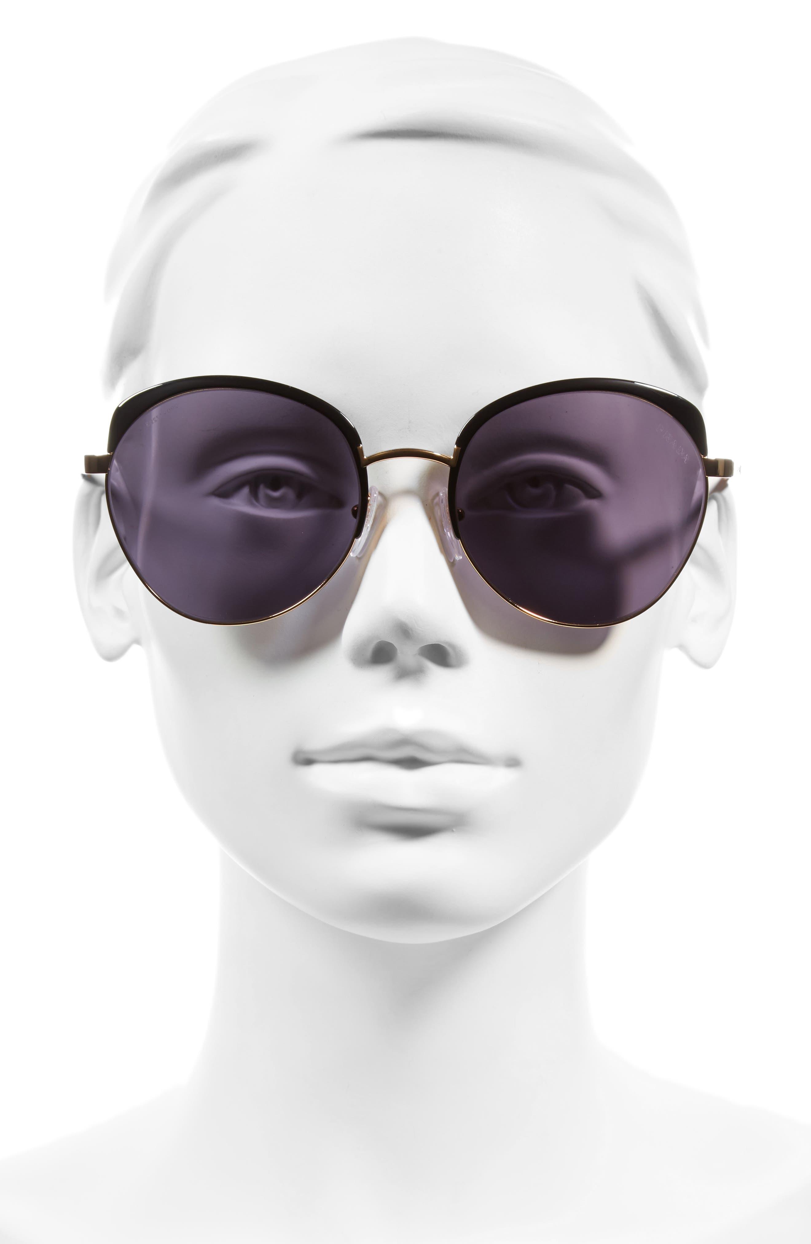 59mm Sunglasses,                             Alternate thumbnail 2, color,                             Black/ Gold