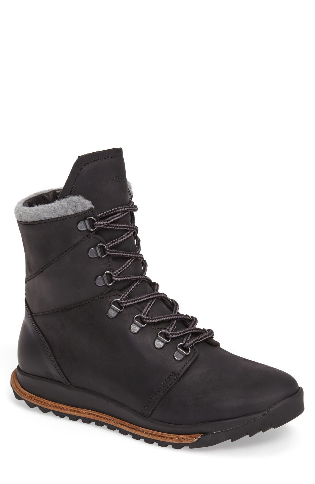 Tall Boot,                             Main thumbnail 1, color,                             Black Leather