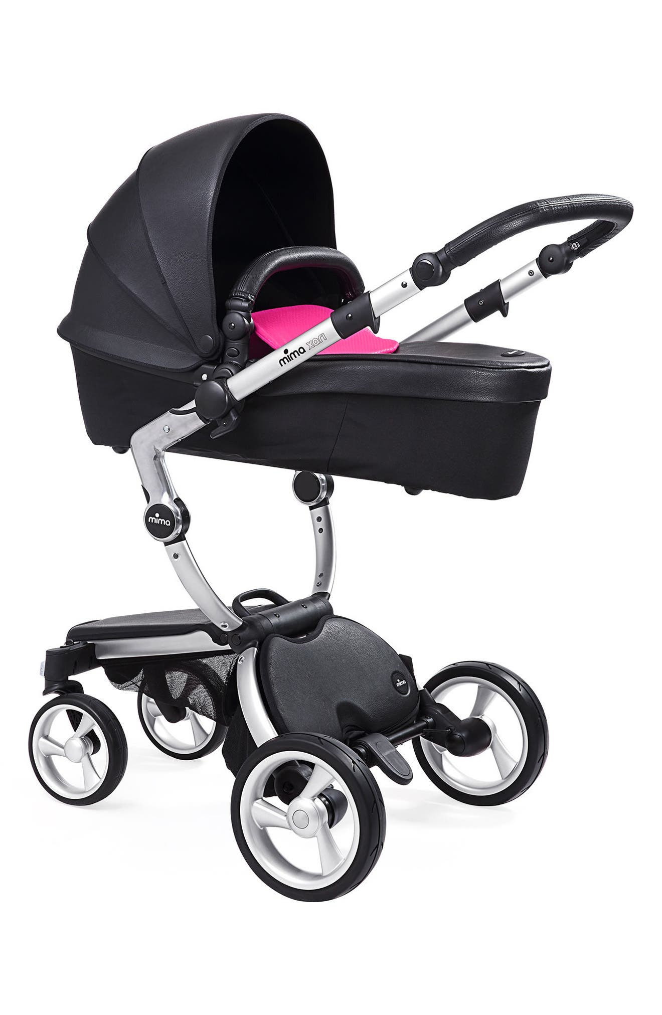 Alternate Image 3  - Mima Xari Aluminum Chassis Stroller with Reversible Reclining Seat & Carrycot