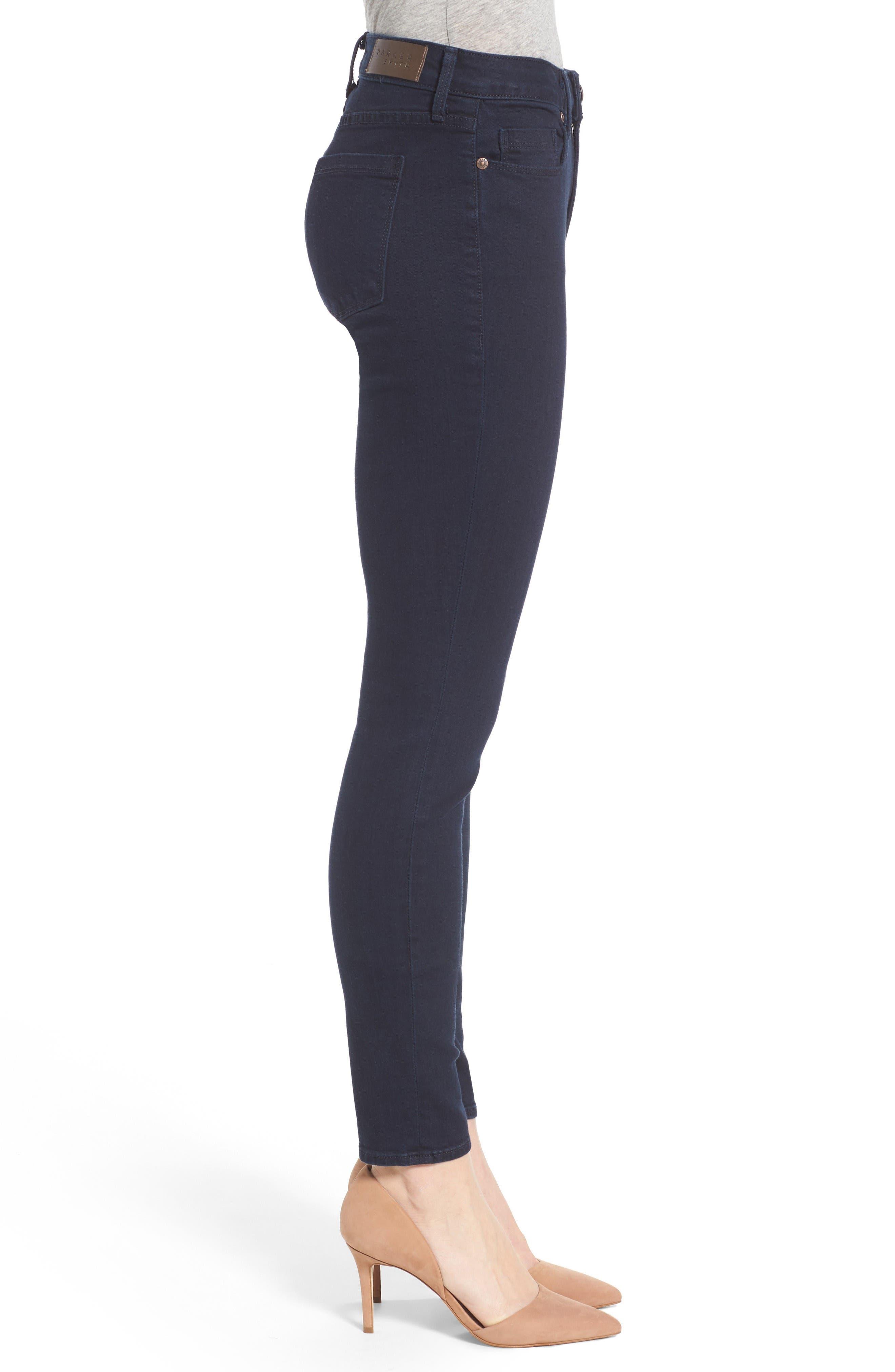 Ava Stretch Skinny Jeans,                             Alternate thumbnail 3, color,                             Nautical