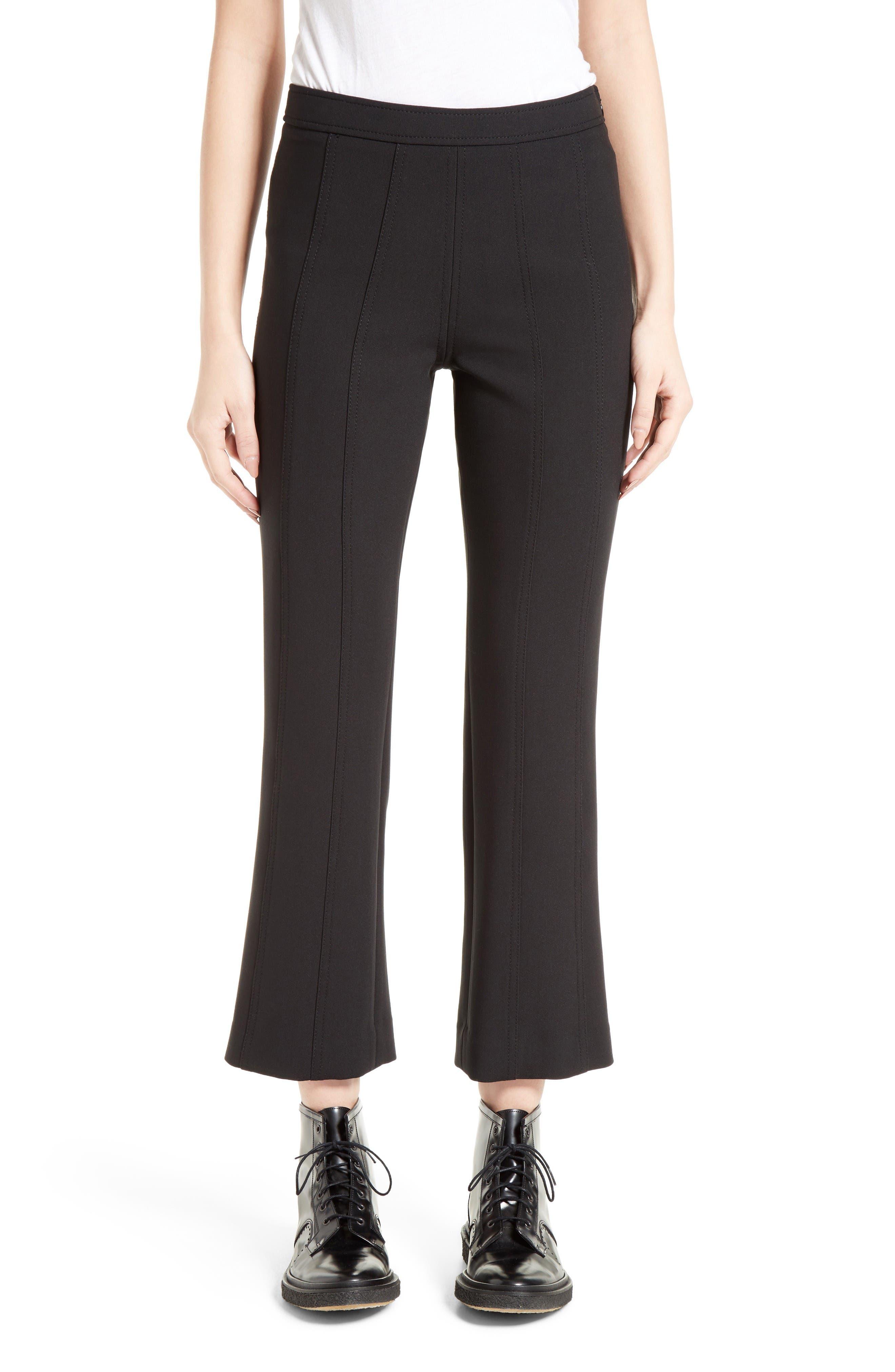 Tinsley Crop Flare Pants,                         Main,                         color, Black