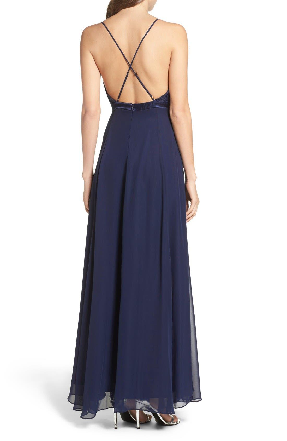 Alternate Image 2  - Lulus Embellished Lace Gown