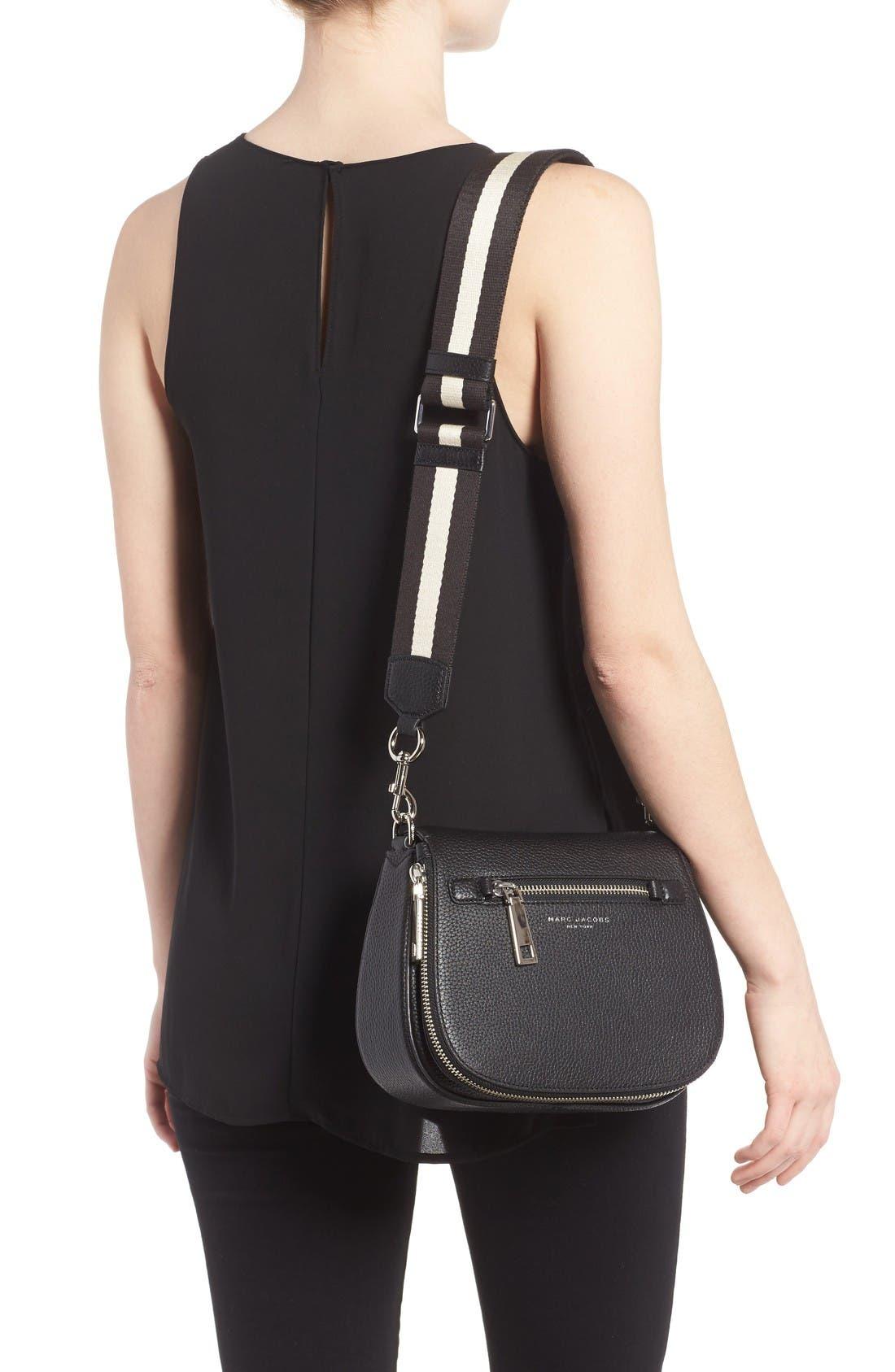 Small Nomad Gotham Leather Crossbody Bag,                             Alternate thumbnail 2, color,                             Black