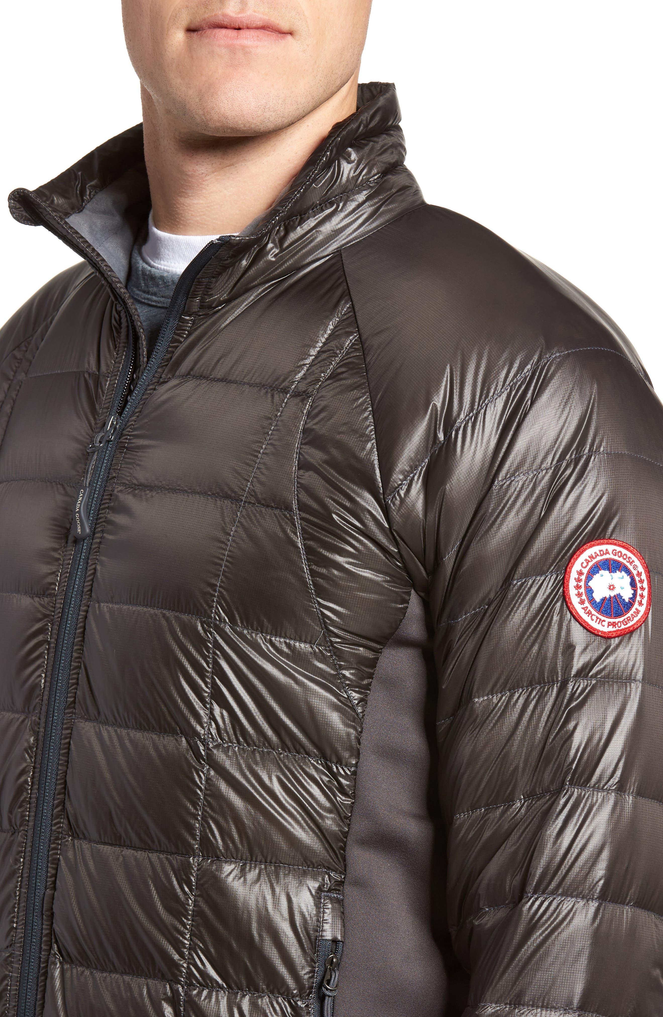 'Hybridge<sup>™</sup> Lite' Slim Fit Packable Jacket,                             Alternate thumbnail 4, color,                             Graphite/ Pacific Blue