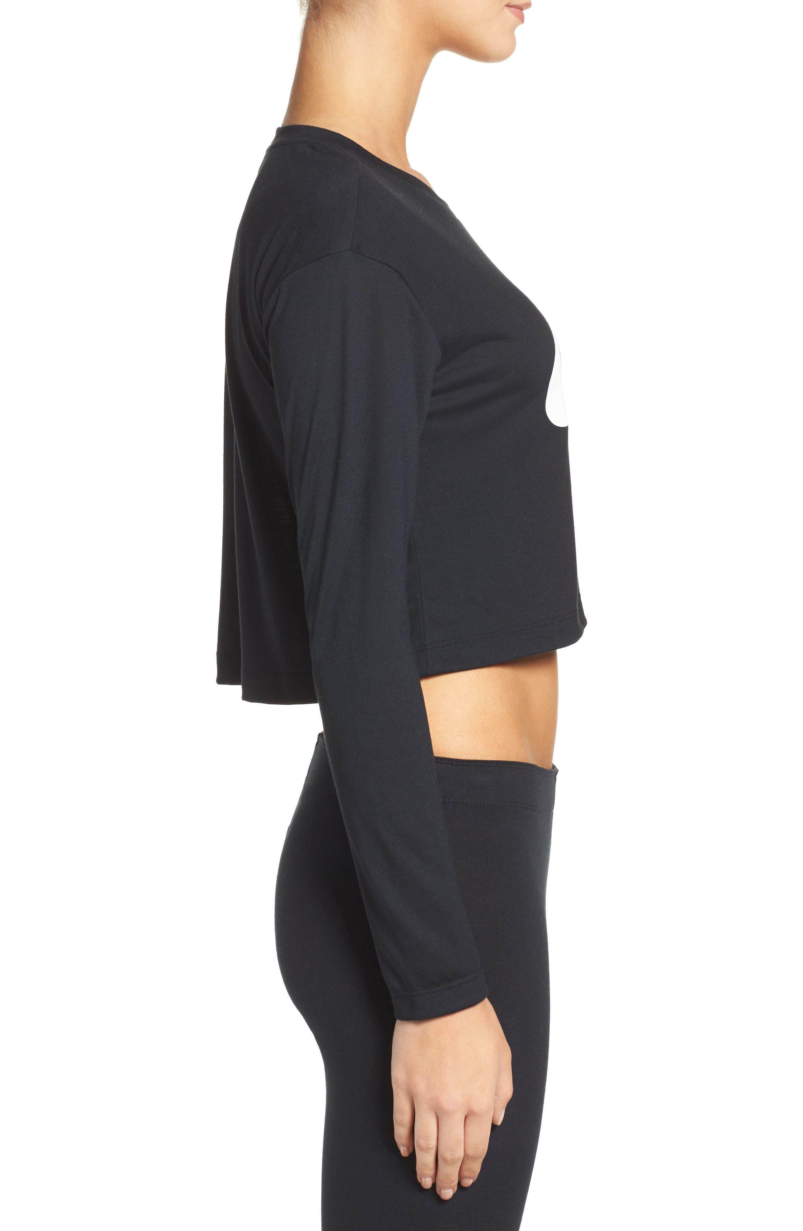 Alternate Image 3  - Nike Sportswear Graphic Crop Tee