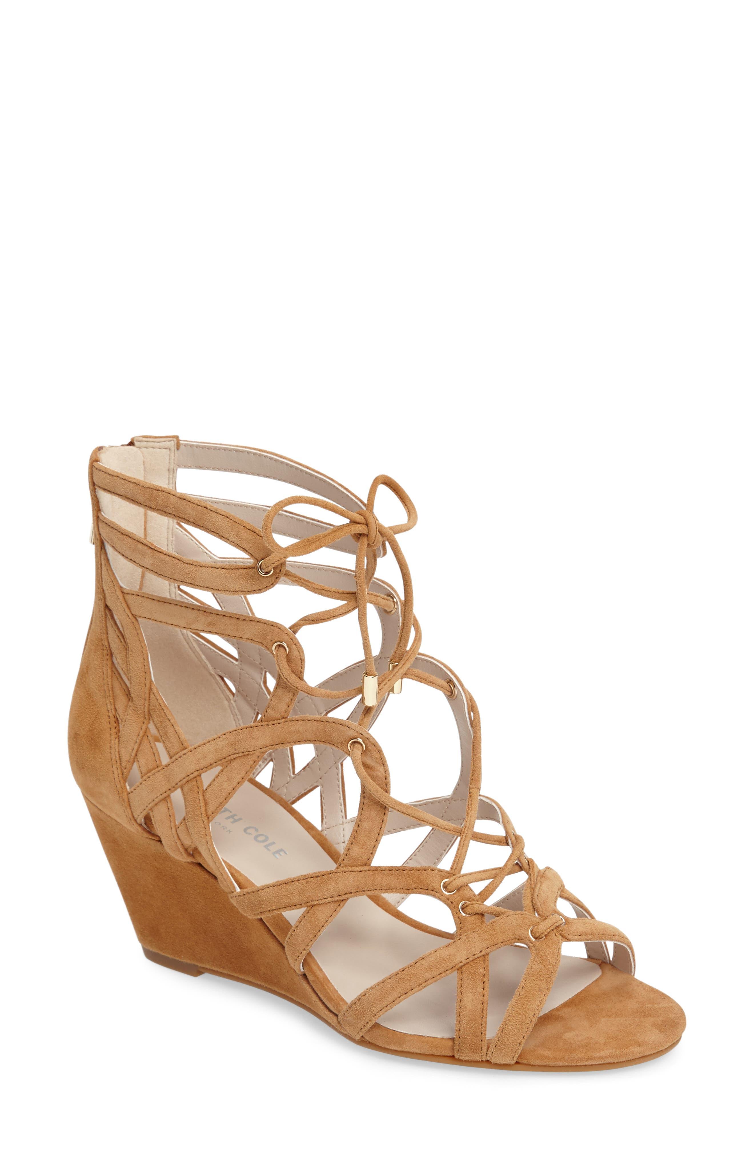 Main Image - Kenneth Cole New York 'Dylan' Wedge Sandal (Women)