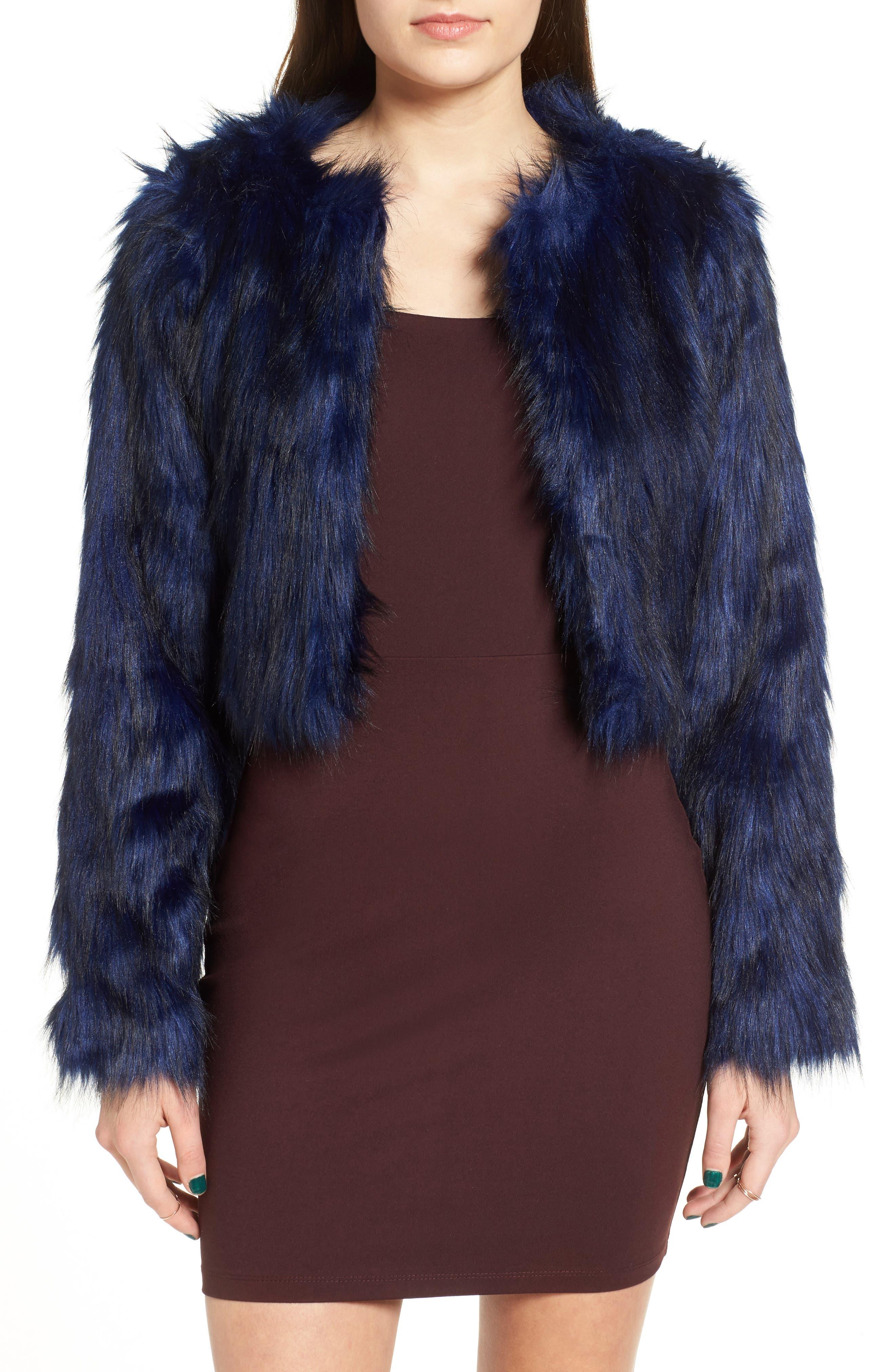 Main Image - Fire Faux Fur Jacket
