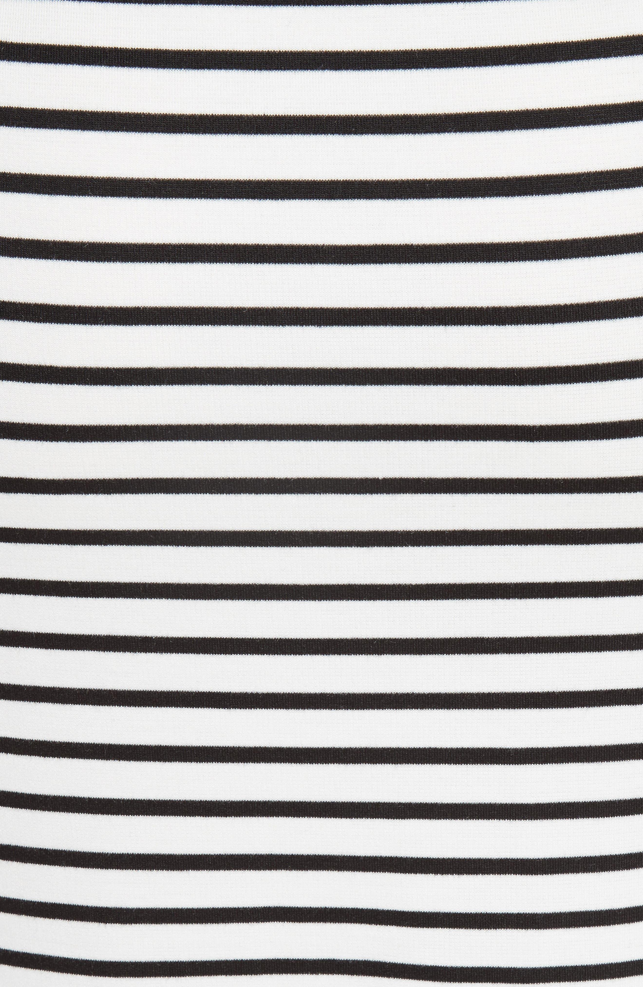 Alternate Image 5  - 10 Crosby Derek Lam Stripe Off the Shoulder Midi Dress