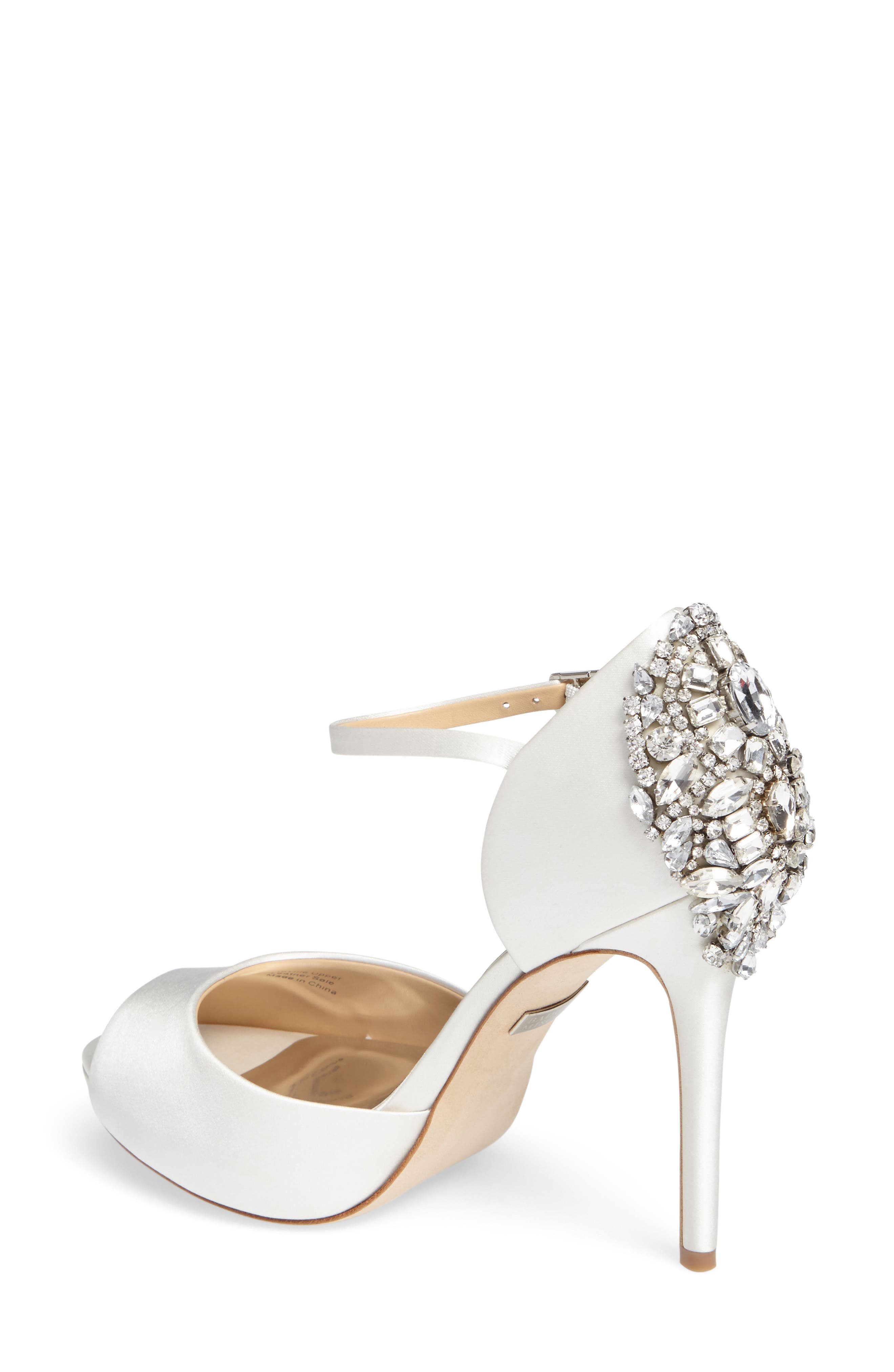 Alternate Image 2  - Badgley Mischka 'Dawn' Crystal Back d'Orsay Pump (Women)