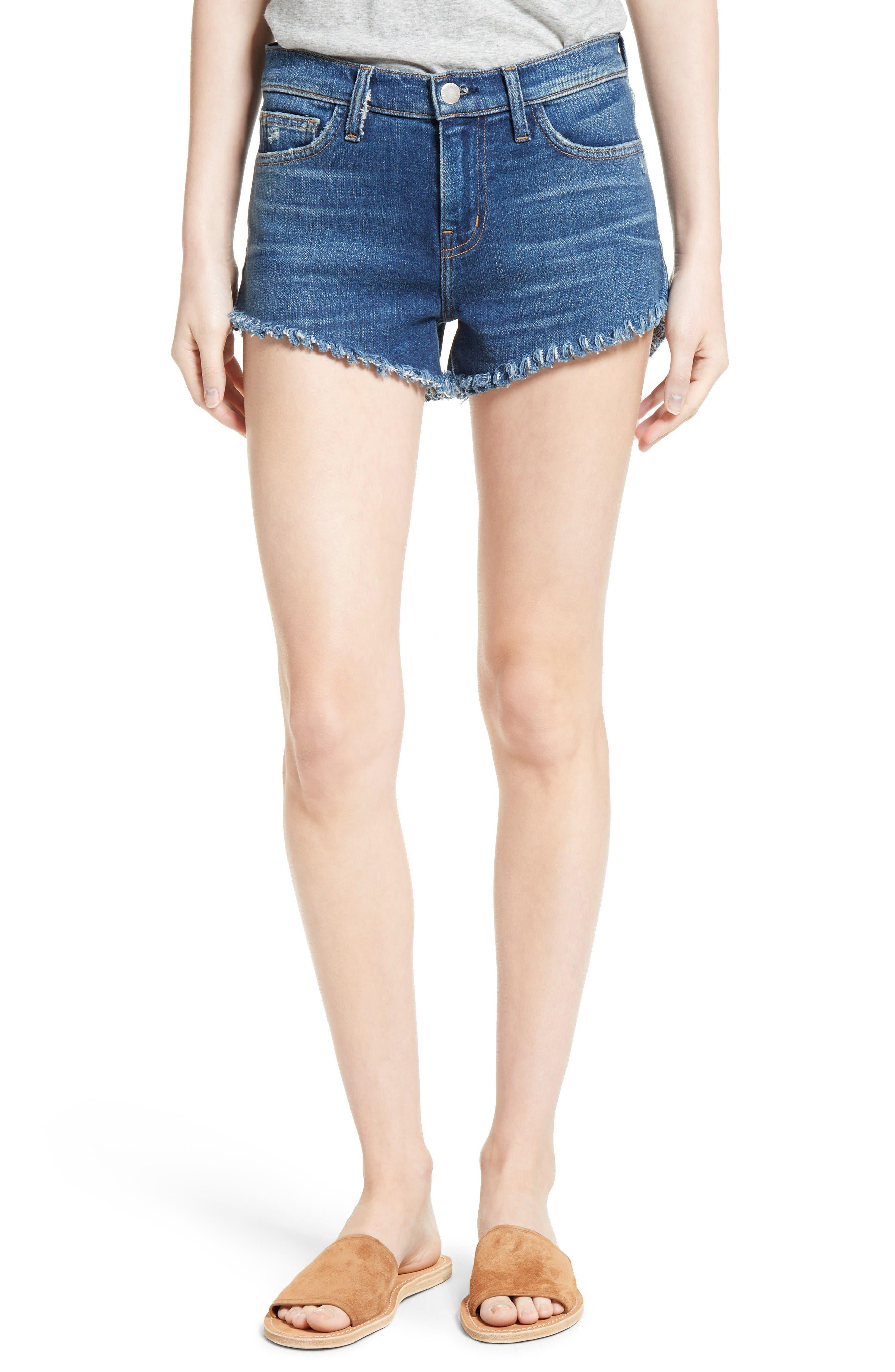 L'AGENCE The Perfect Fit Denim Shorts (Authentique)