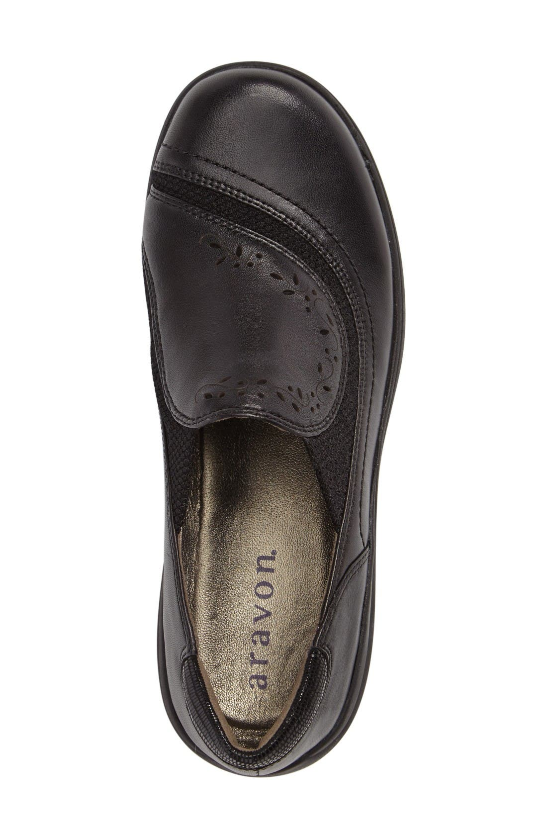 Revsolace Flat,                             Alternate thumbnail 3, color,                             Black Leather