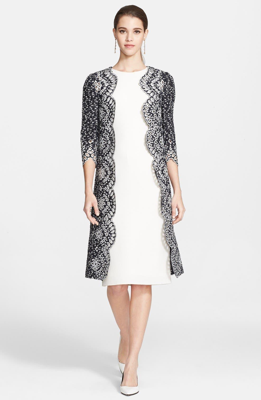 Alternate Image 3  - Oscar de la Renta Wool Crepe Pencil Dress