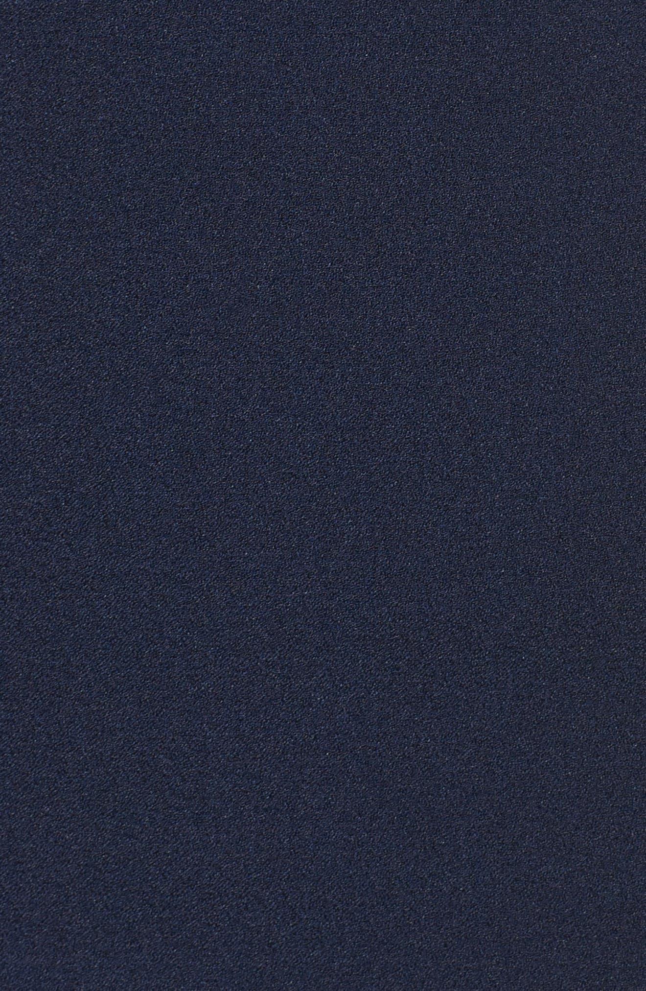 Ruffle Sheath Dress,                             Alternate thumbnail 6, color,                             Navy