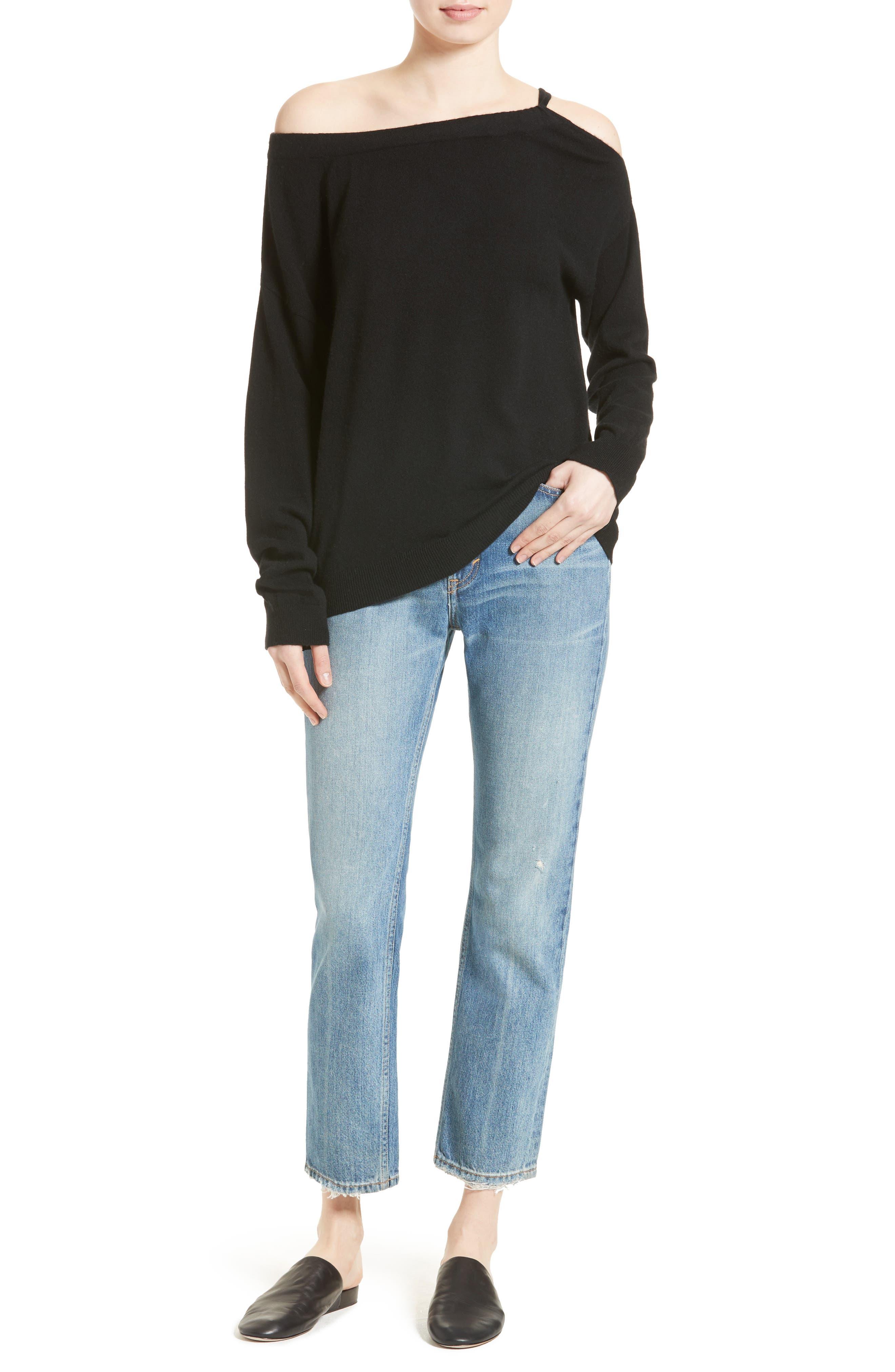 Alternate Image 2  - Vince Convertible Cold Shoulder Cashmere Sweater