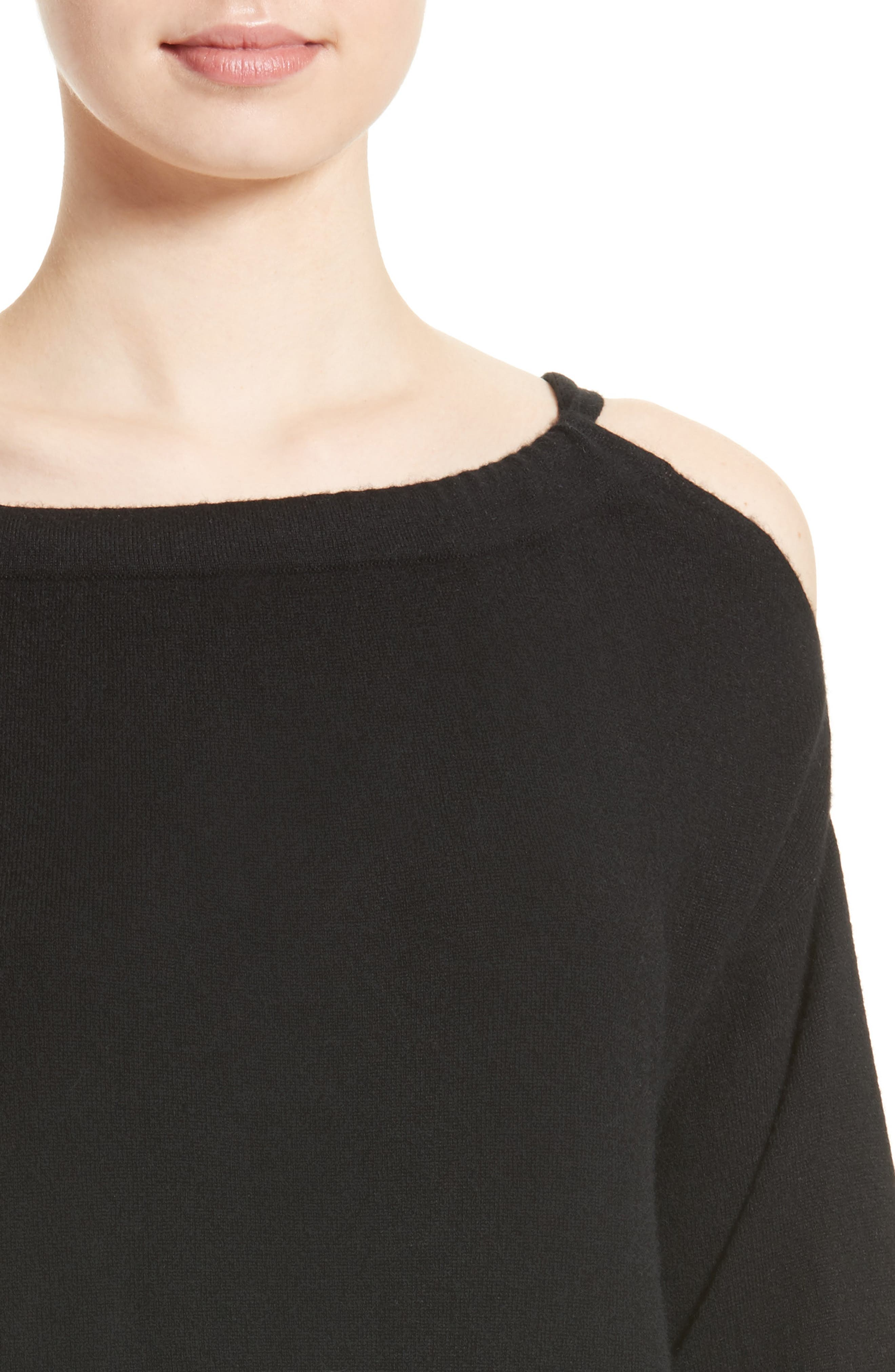Alternate Image 5  - Vince Convertible Cold Shoulder Cashmere Sweater