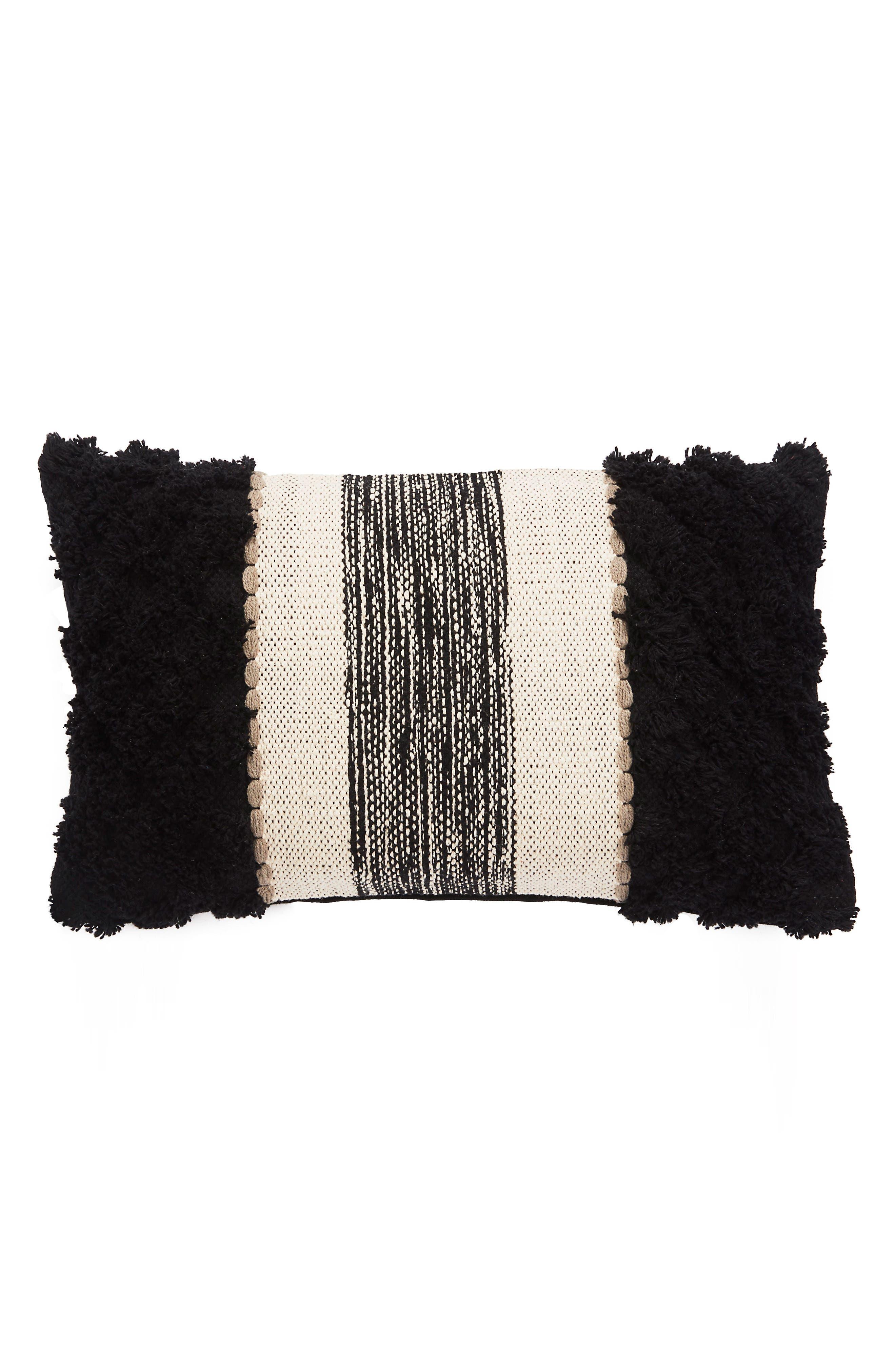 Accent Pillow,                             Main thumbnail 1, color,                             Black