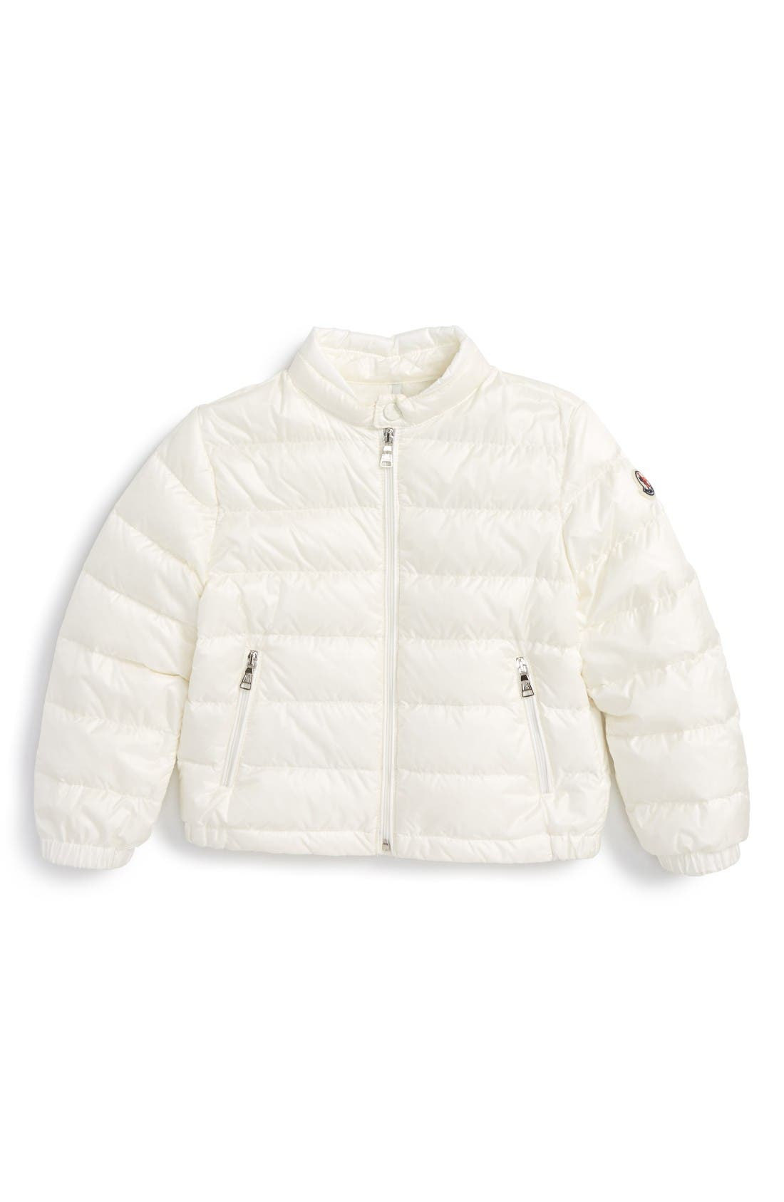 Moncler Acorus Channel Quilted Down Moto Jacket (Baby)