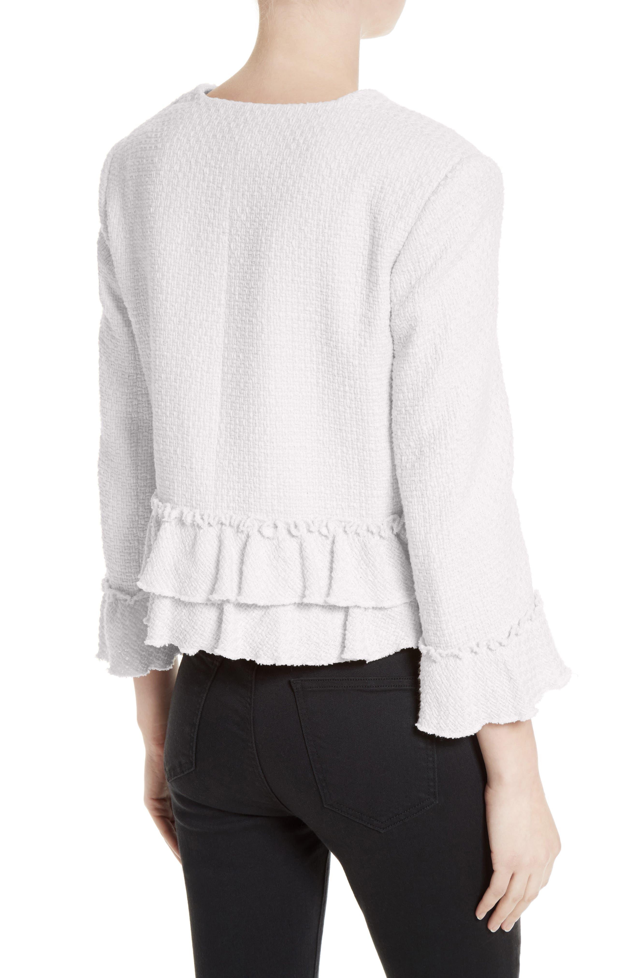 Alternate Image 2  - Helene Berman Frill Tweed Jacket