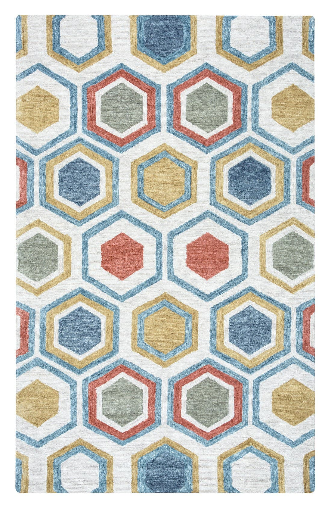 'Lancaster Geometric' Hand Tufted Wool Area Rug,                         Main,                         color, Grey/ Multi