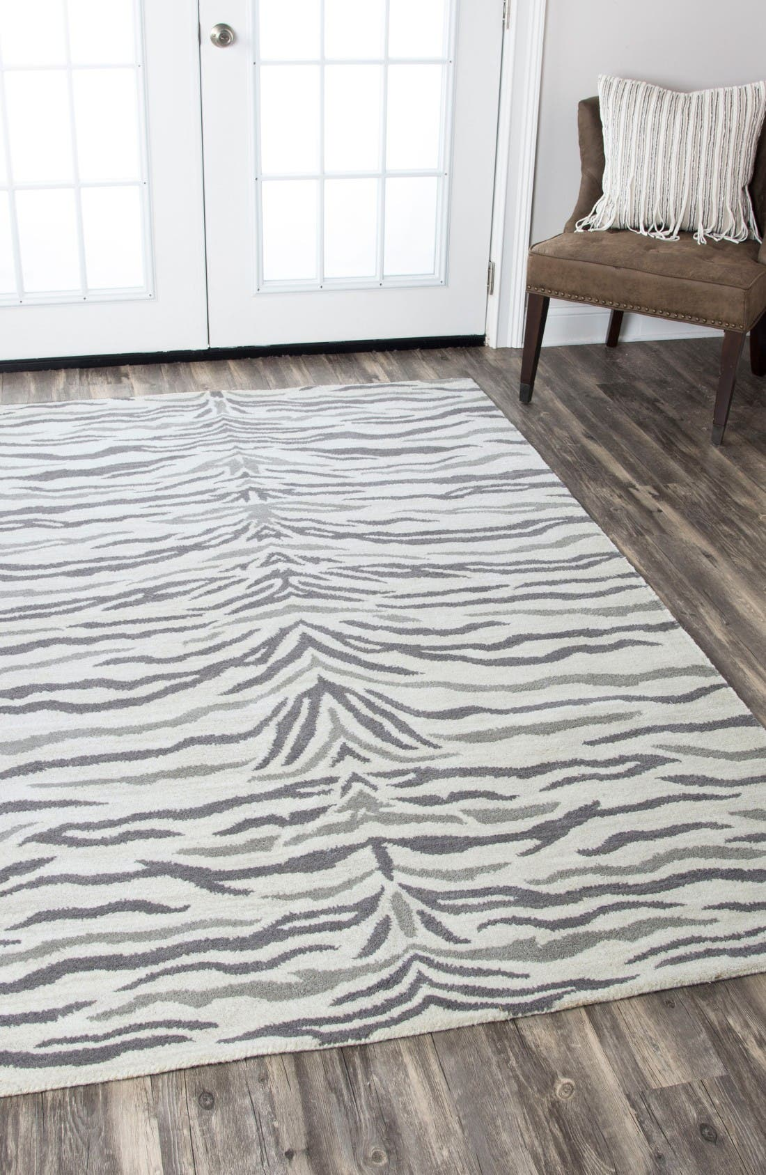 Alternate Image 5  - Rizzy Home 'Valintino Zebra' Hand Tufted Wool Area Rug