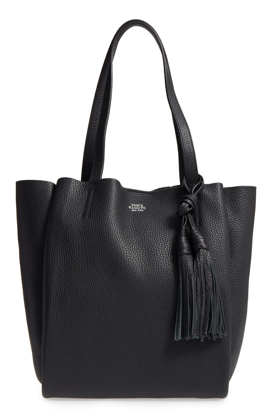Alternate Image 1 Selected - Vince Camuto Small Taja Leather Tote with Tassel Charm