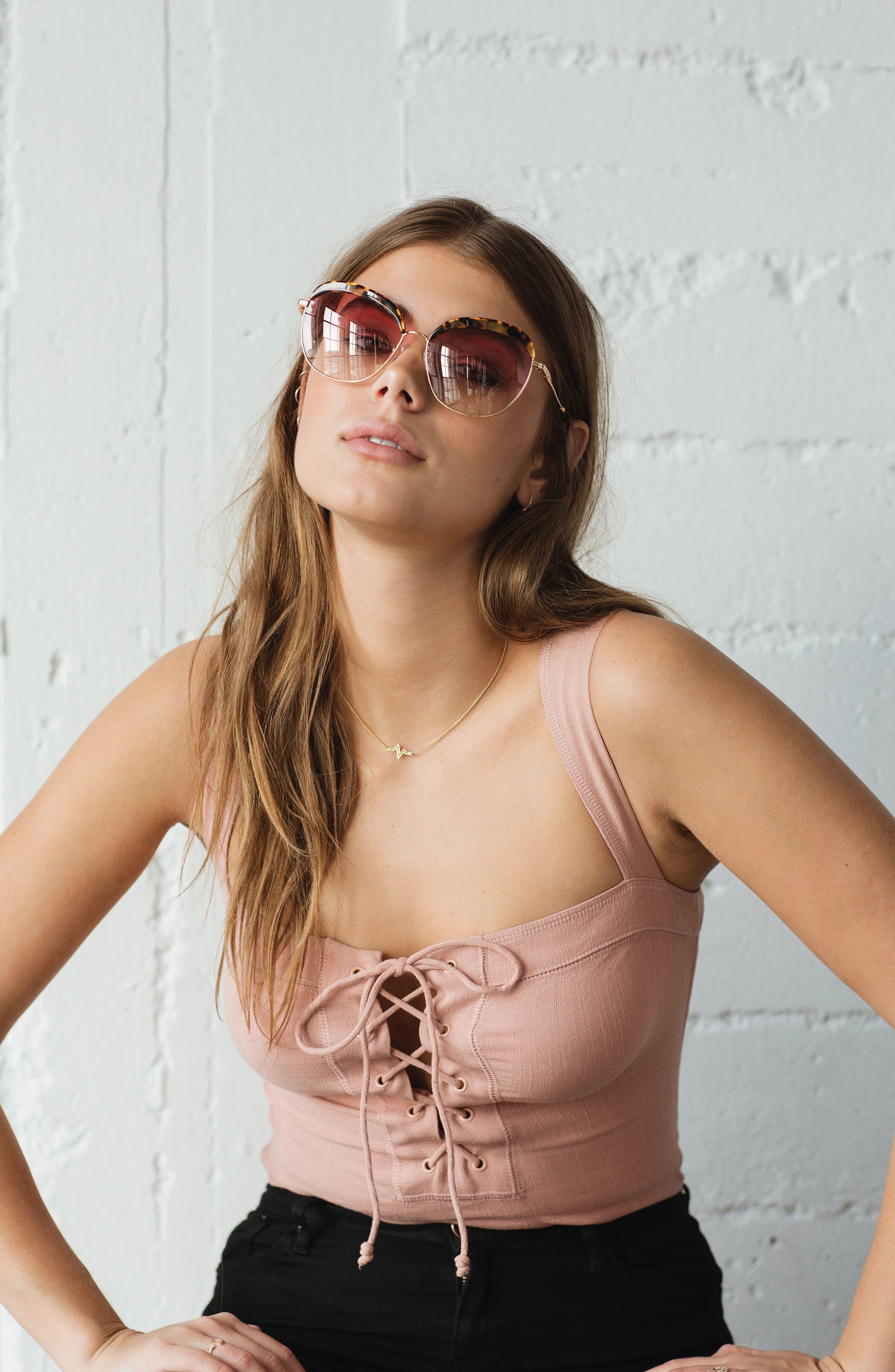Alternate Image 2  - Sonix Birdie 60mm Oversize Sunglasses