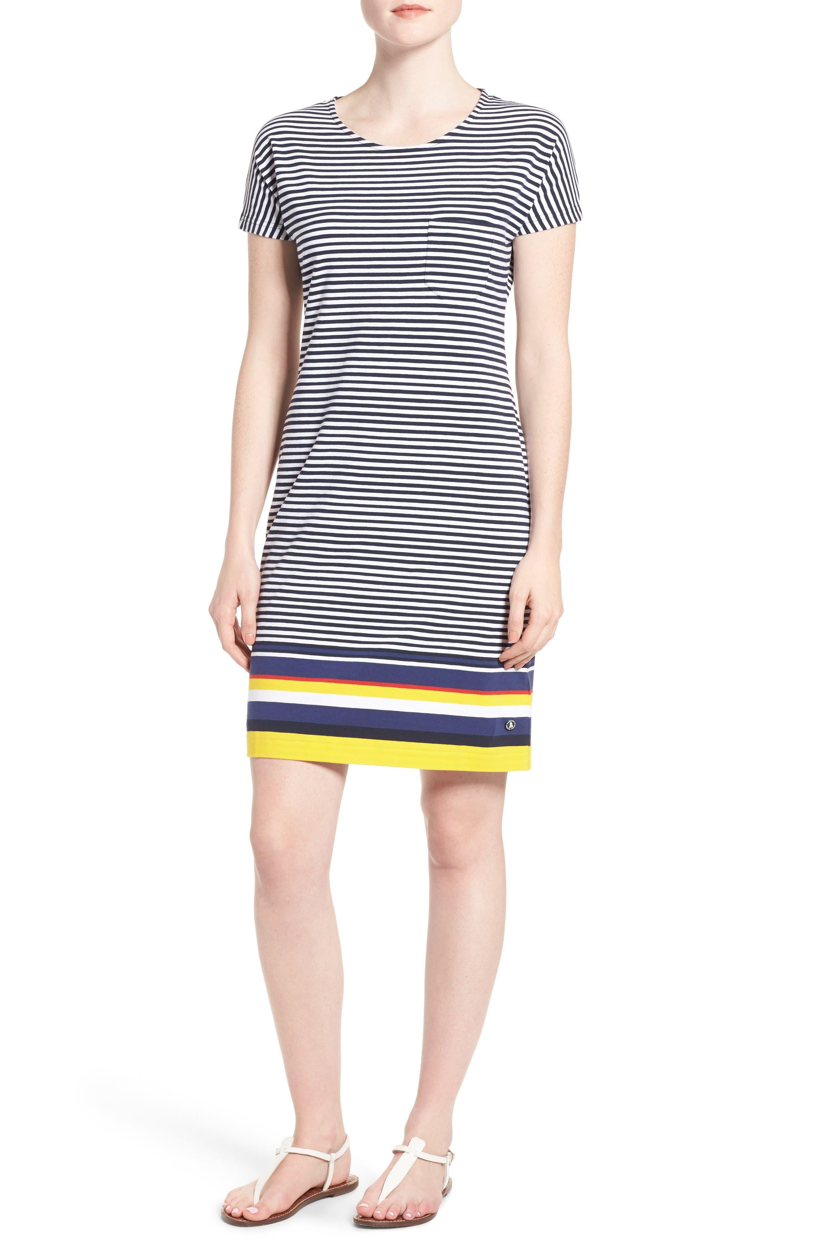 Barbour 'Harewood' Stripe Jersey Short Sleeve Shift Dress