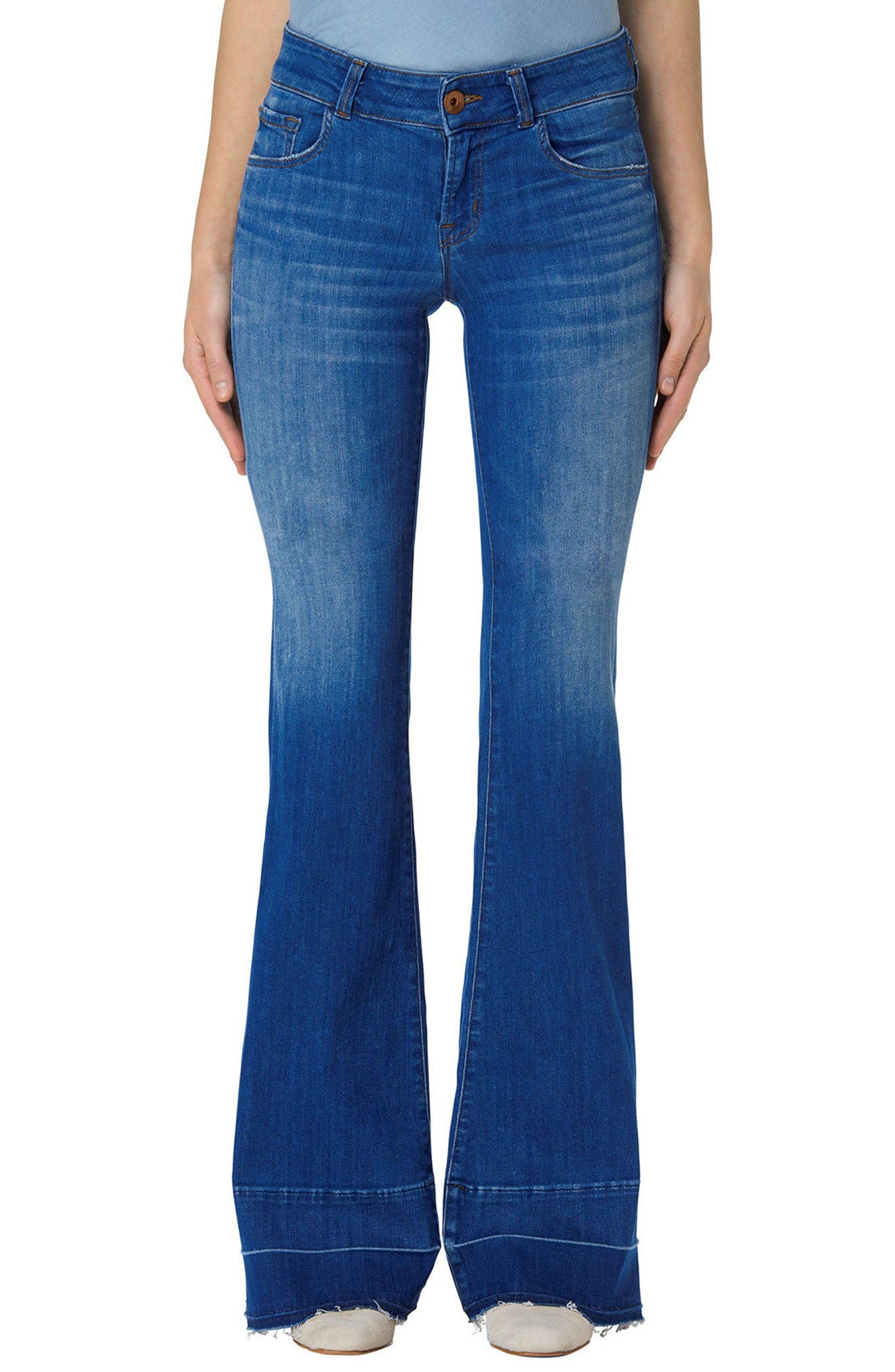 Main Image - J Brand Love Story Flare Jeans (Angelic)
