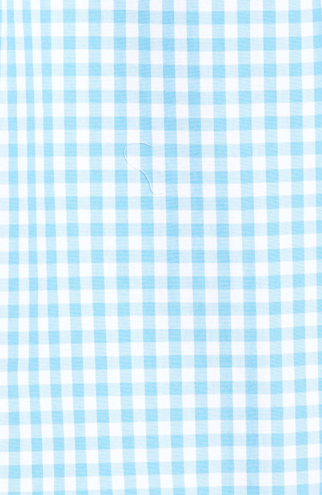 Elmont Gingham Sport Shirt,                             Alternate thumbnail 5, color,                             Ocean Breeze Blue