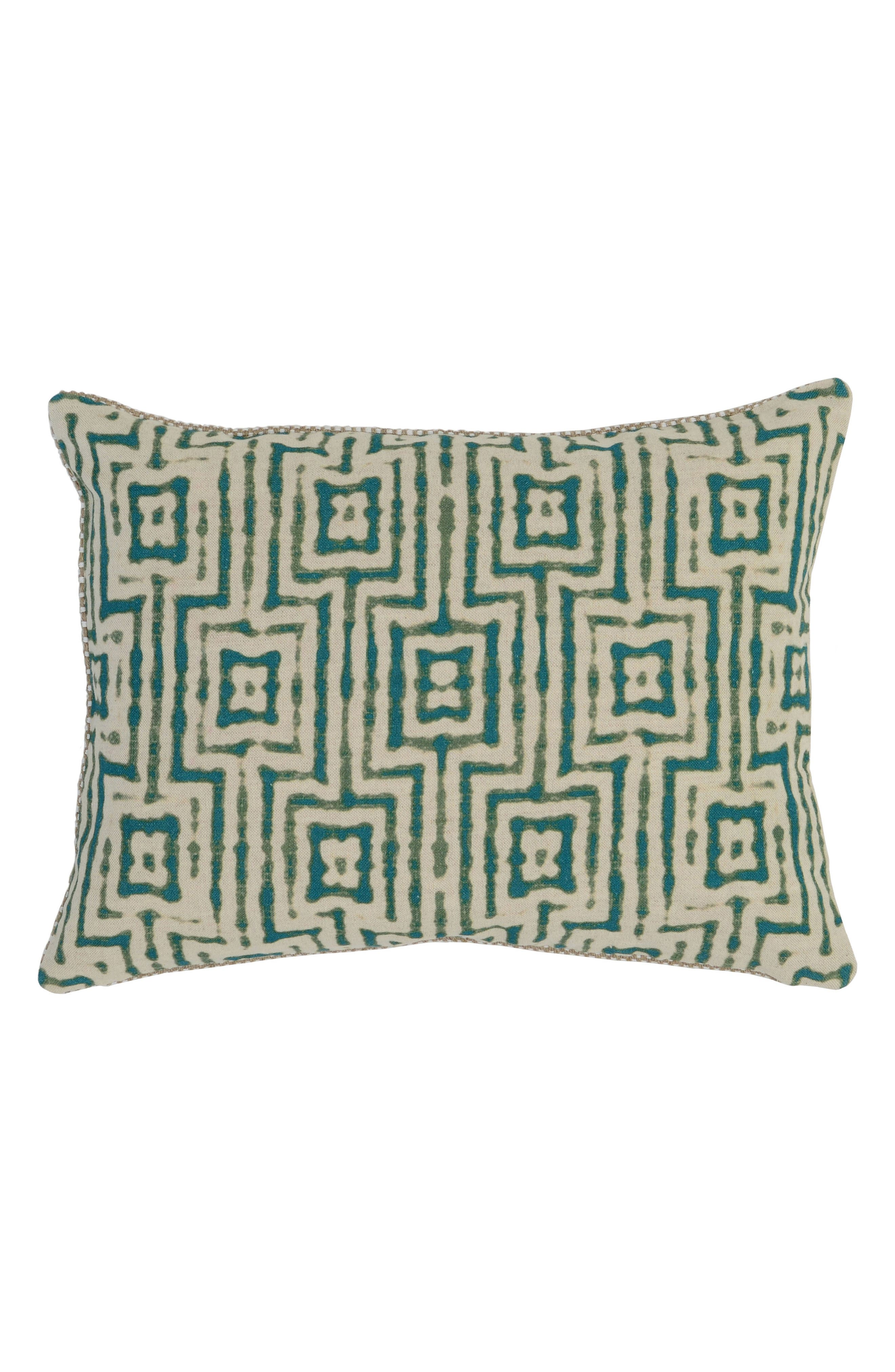 Paradise Surf Pillow,                         Main,                         color, Green