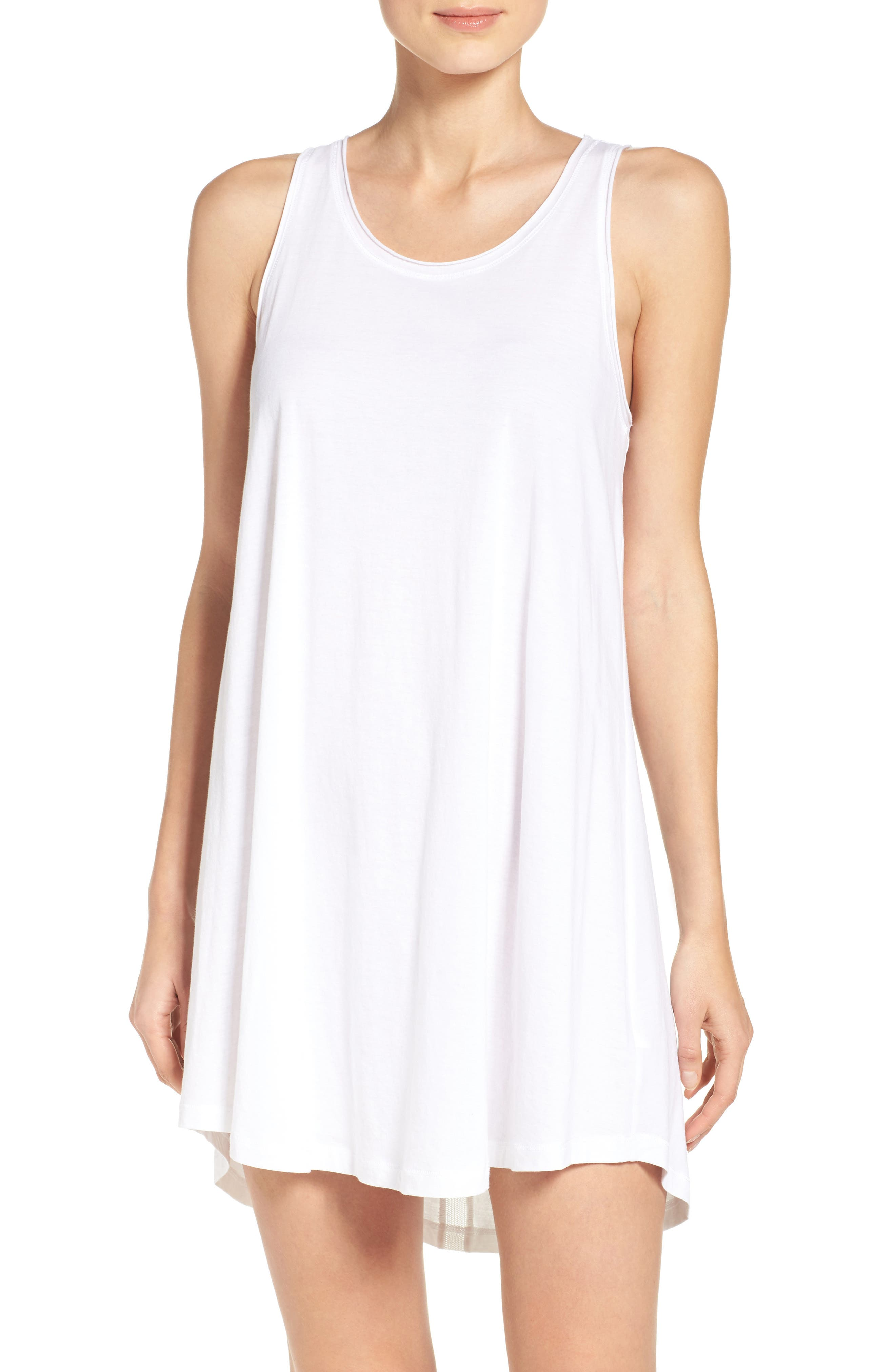 Jersey Chemise,                         Main,                         color, White