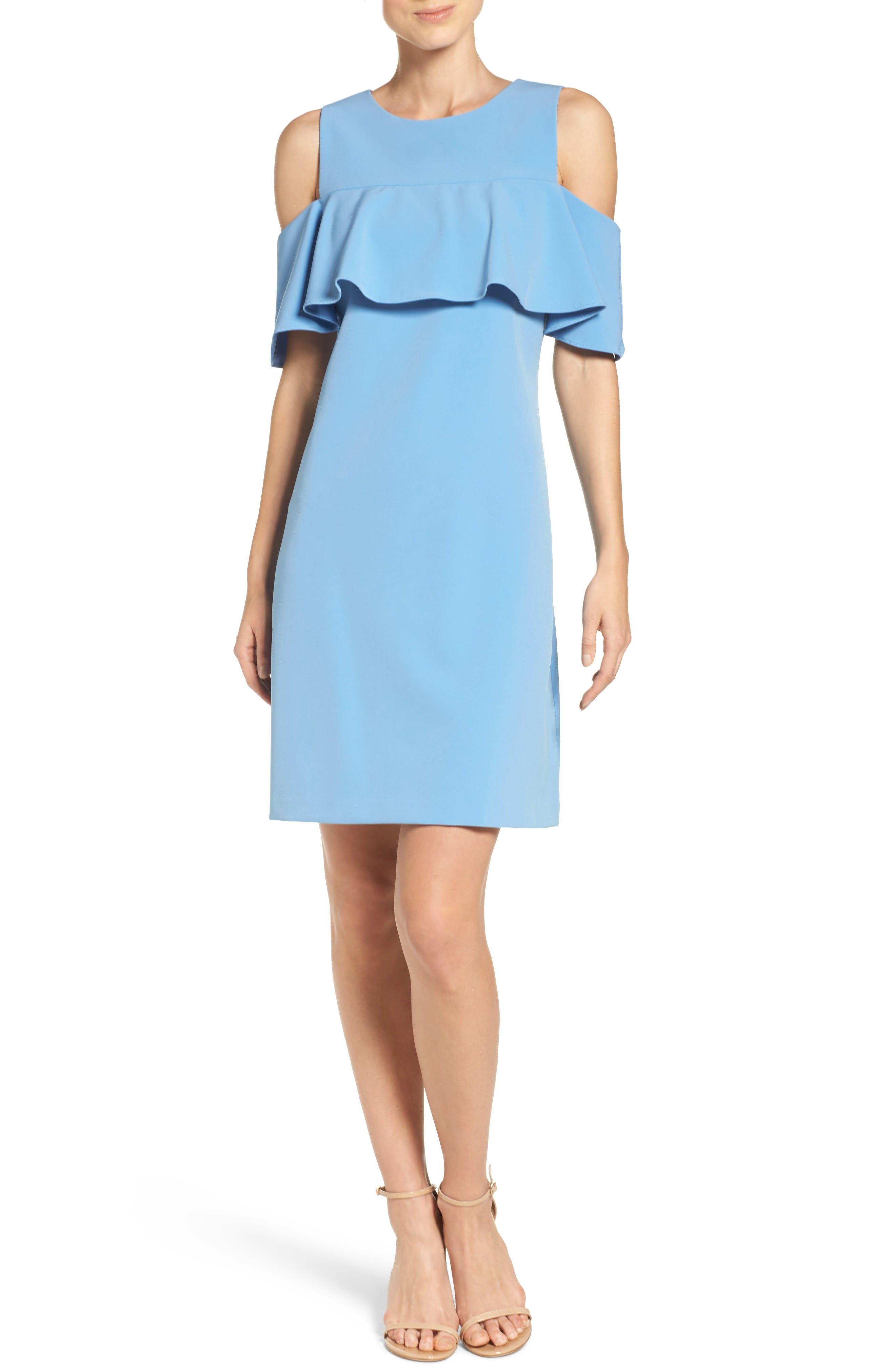 Alternate Image 3  - Taylor Dresses Cold Shoulder Sheath Dress