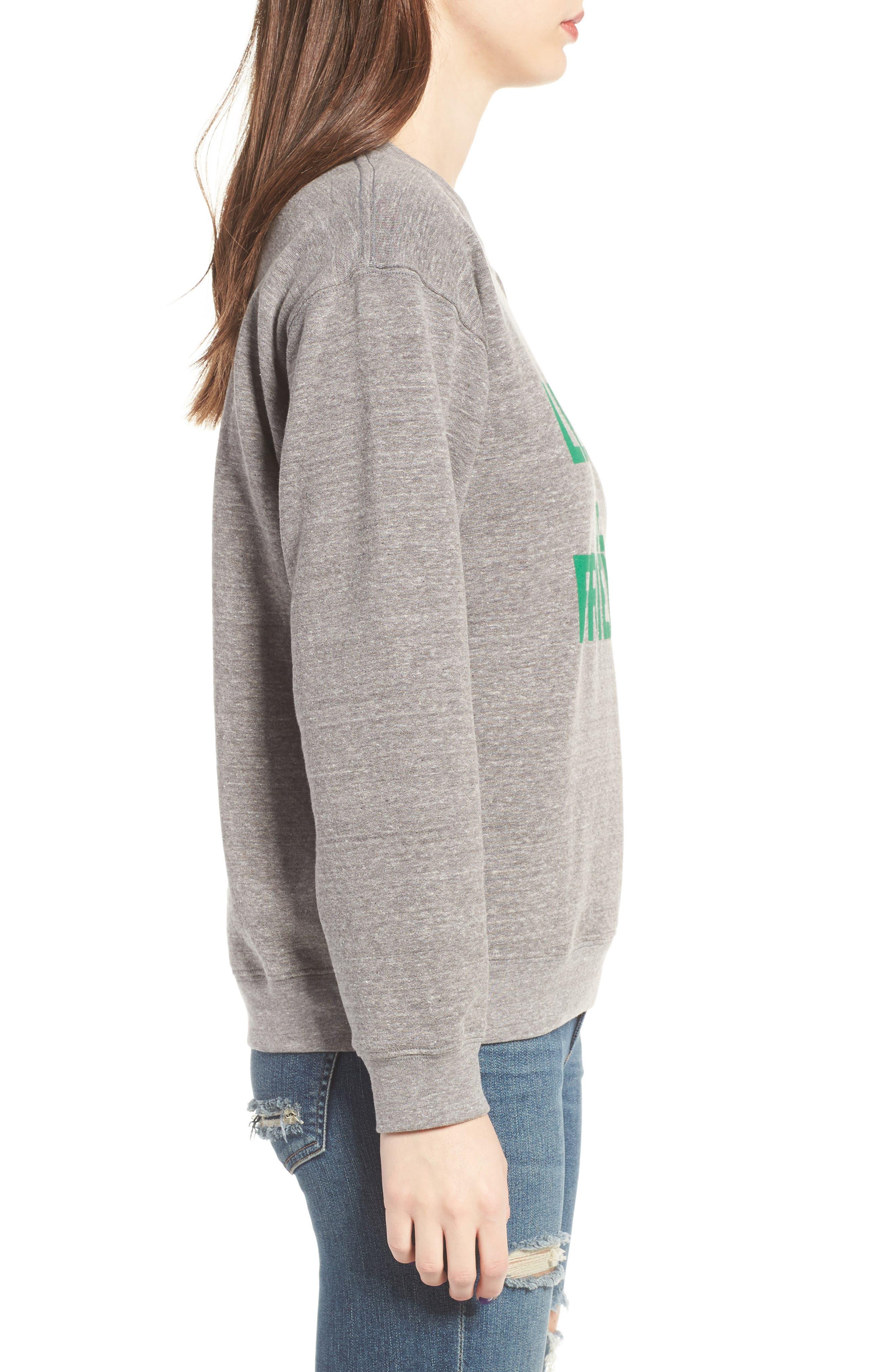 Lettuce Be Friends Sweatshirt,                             Alternate thumbnail 3, color,                             Heather Grey