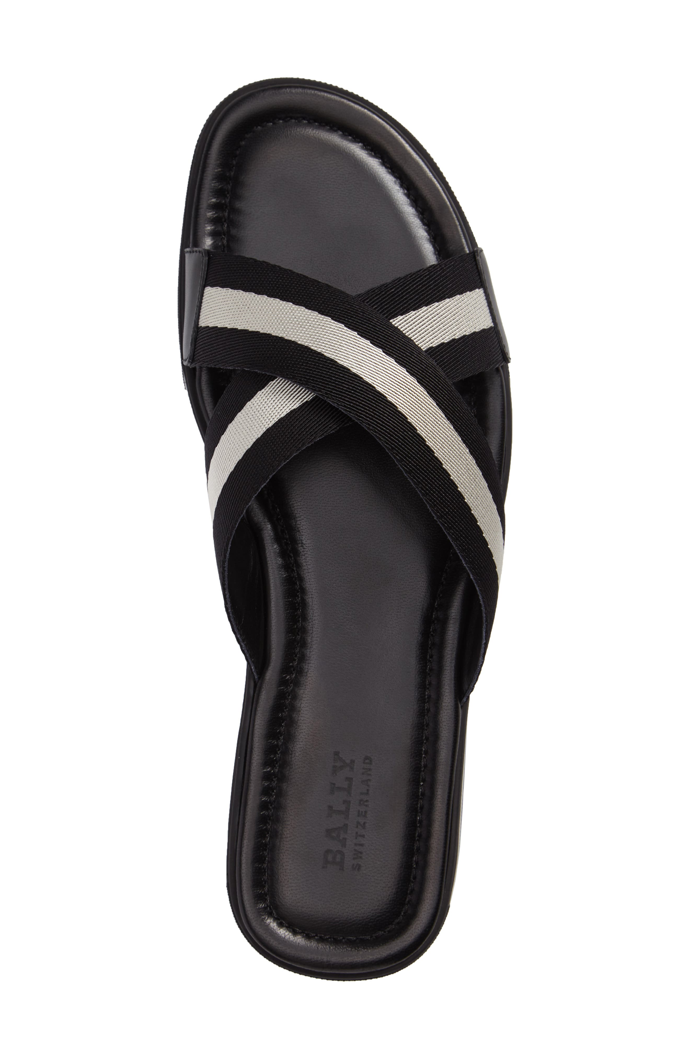 Bonks Slide Sandal,                             Alternate thumbnail 3, color,                             Black/ Bone