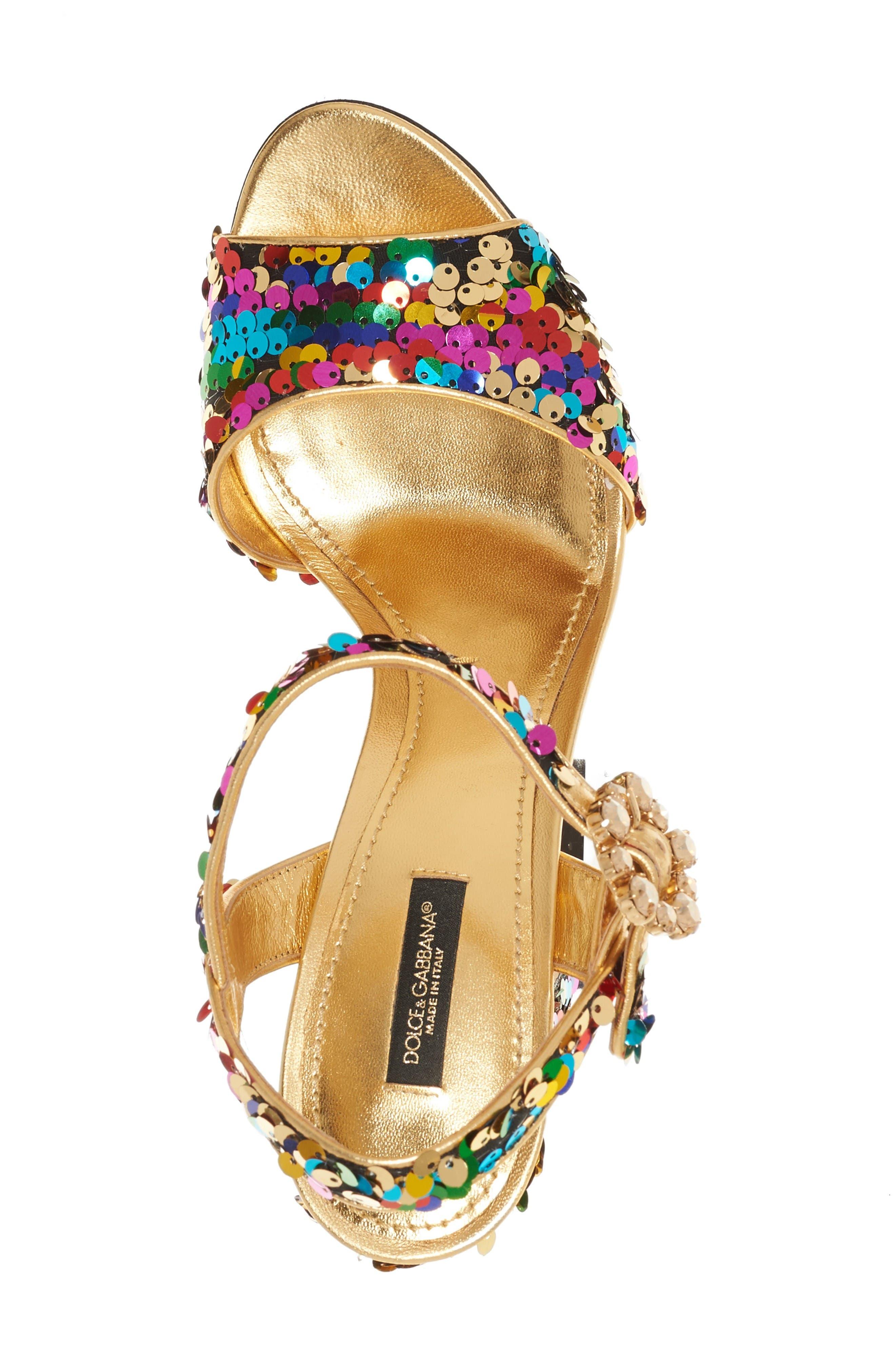 Alternate Image 3  - Dolce&Gabbana Sequin Sandal (Women)