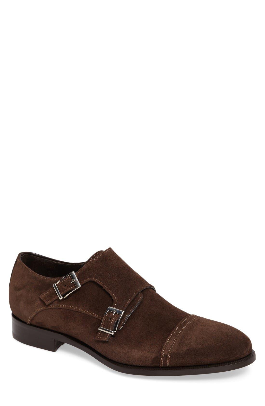 Alternate Image 1 Selected - Crosby Square Conley Double Monk Strap Shoe (Men)