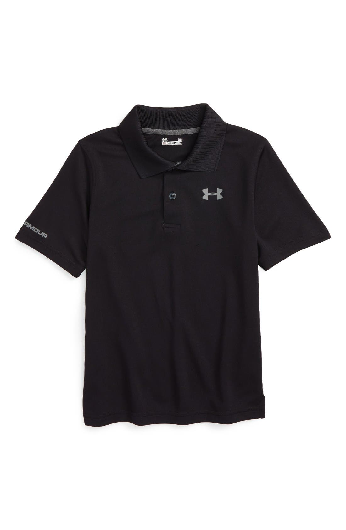 Match Play HeatGear<sup>®</sup> Polo,                             Main thumbnail 1, color,                             Black