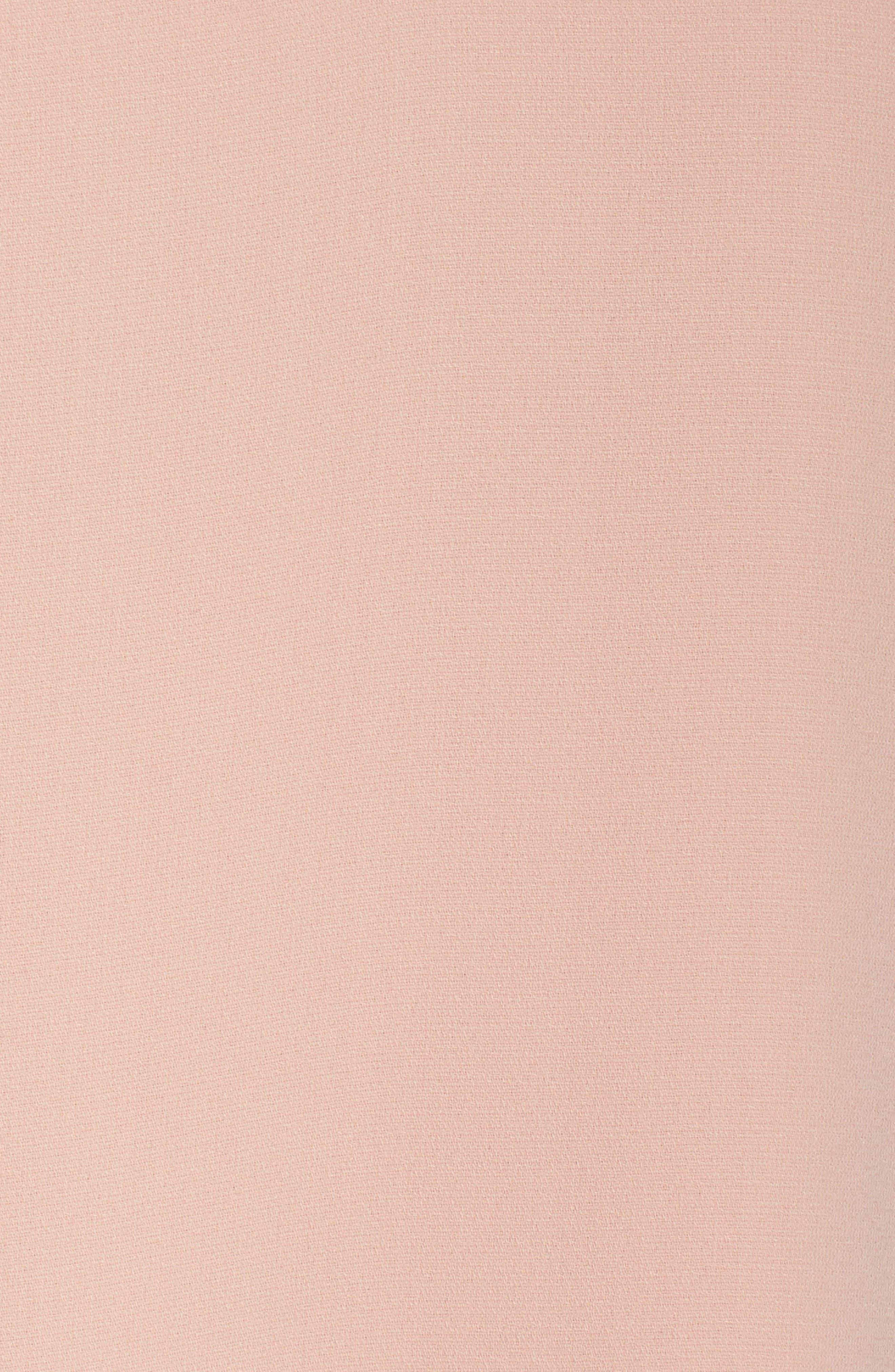 Ruffle Bell Sleeve Dress,                             Alternate thumbnail 6, color,                             Pink Dust