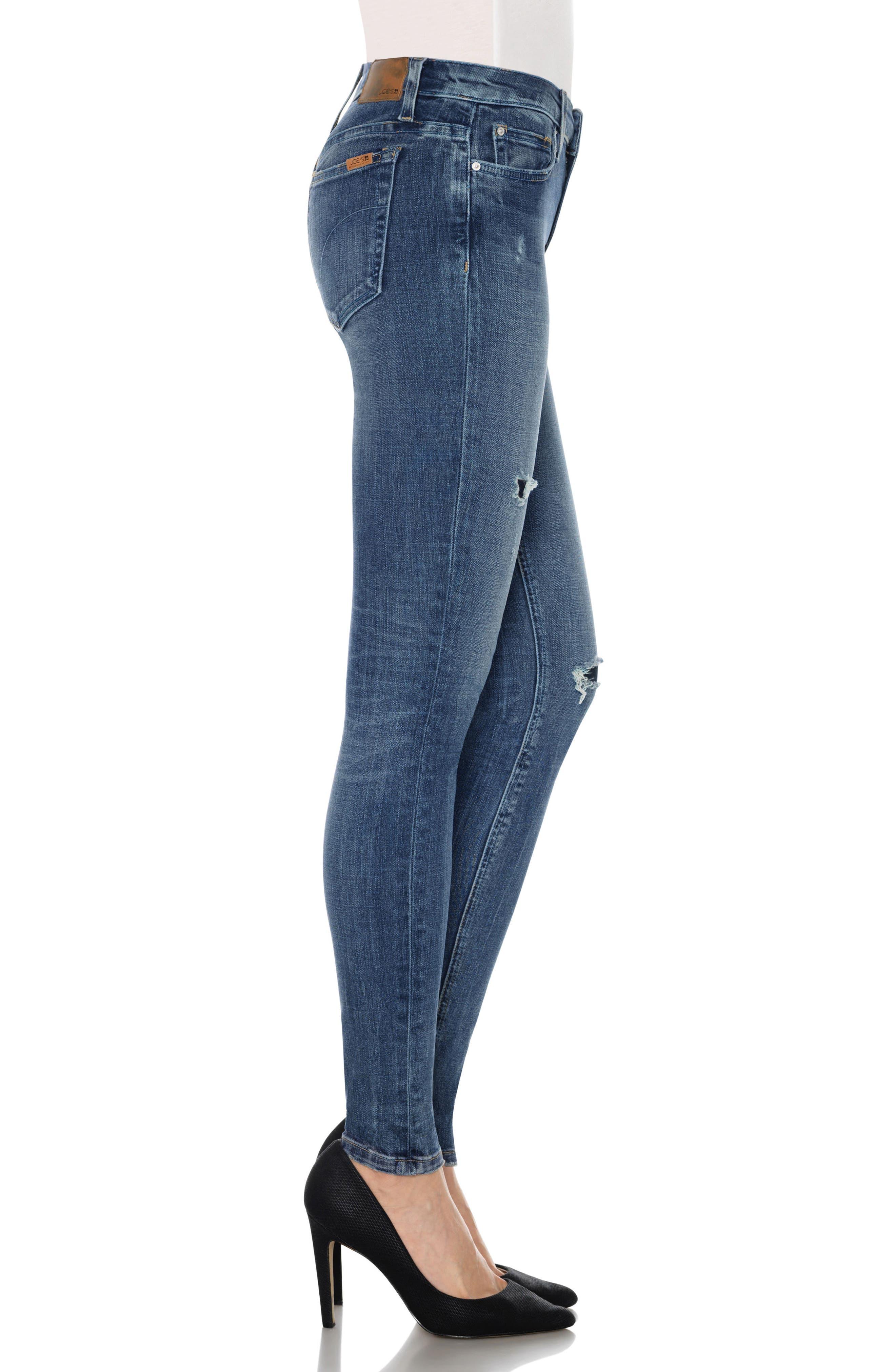 Icon Skinny Jeans,                             Alternate thumbnail 3, color,                             Neelam