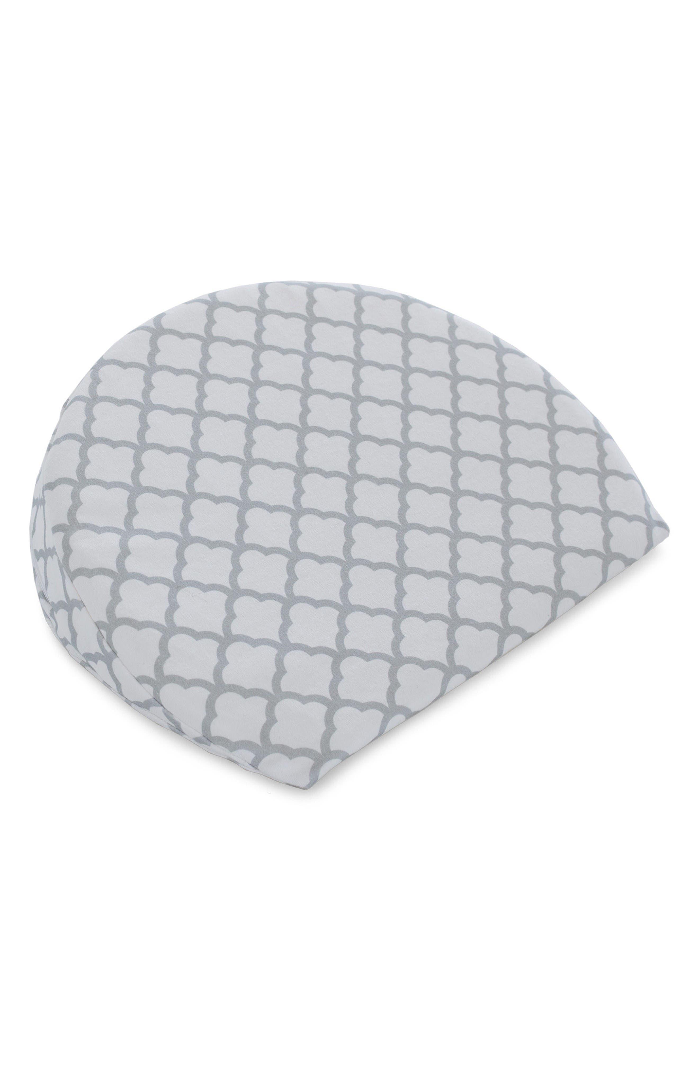 Pregnancy Wedge Cushion & Slipcover,                             Alternate thumbnail 2, color,                             White Trellis