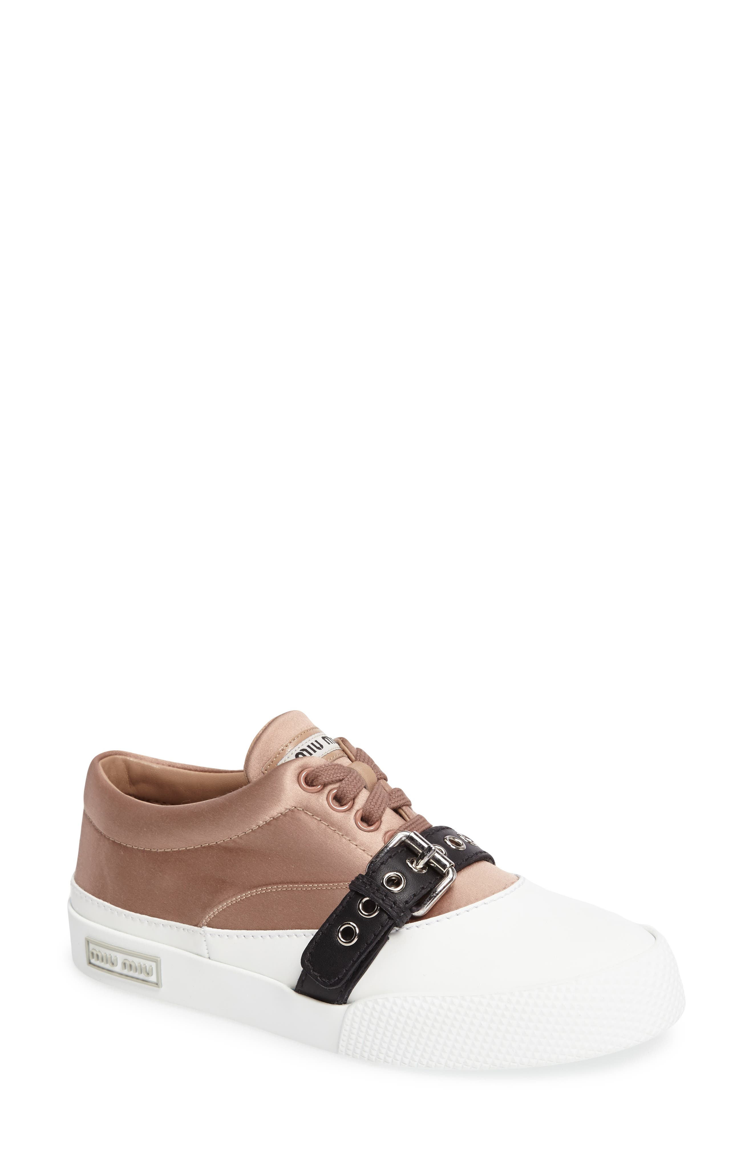 Main Image - Miu Miu Belted Sneaker (Women)
