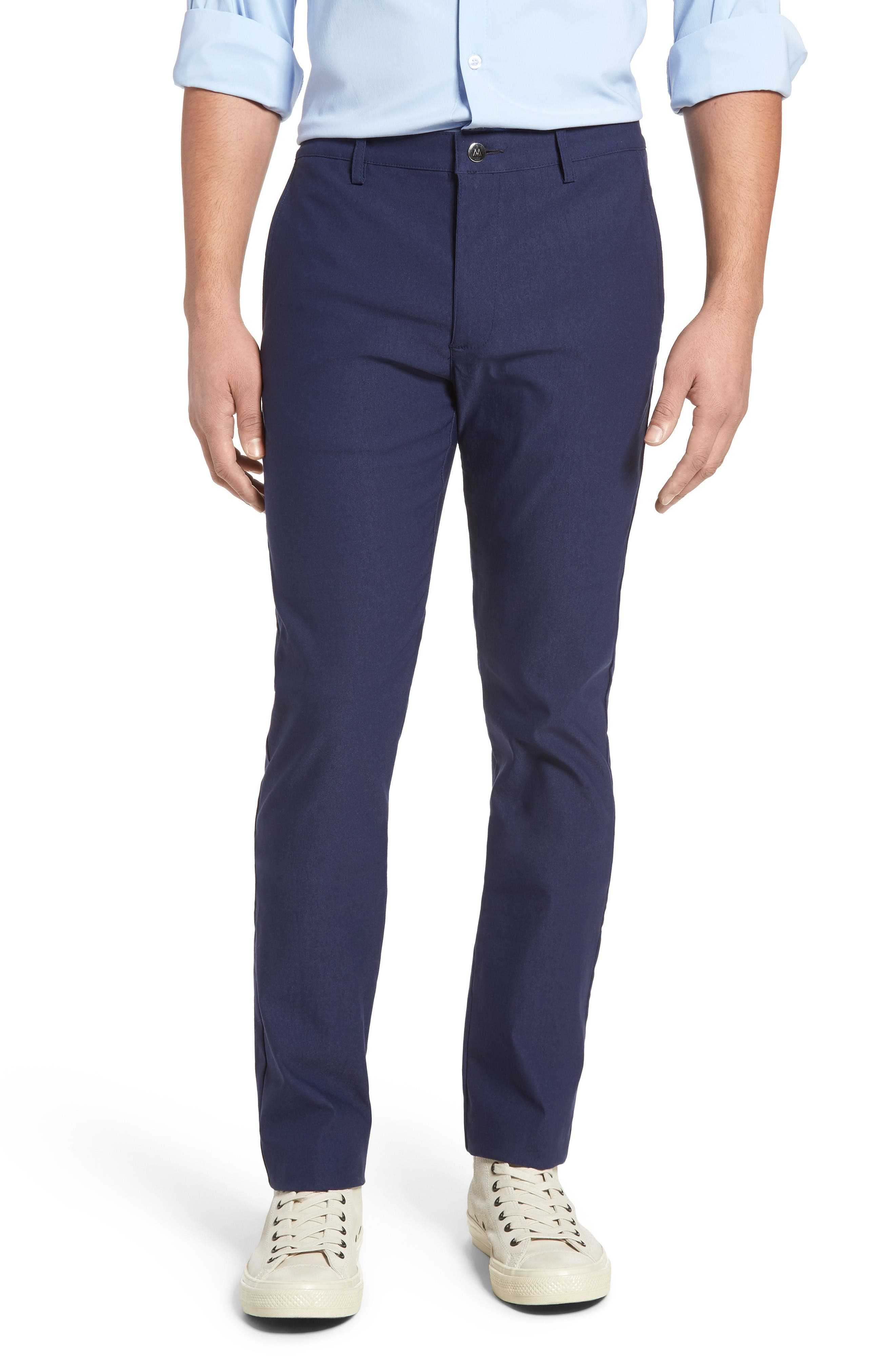 President Trim Fit Performance Chinos,                         Main,                         color, Navy